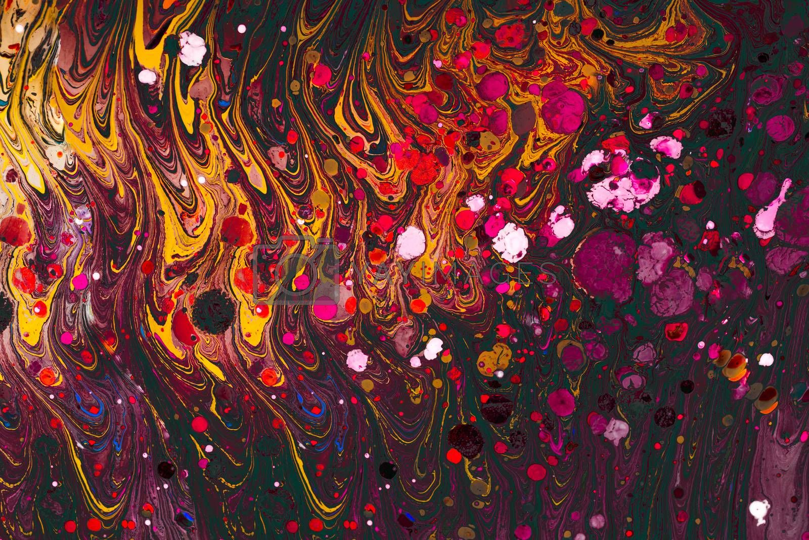 Traditional Ottoman Turkish marbling art patterns as abstract background