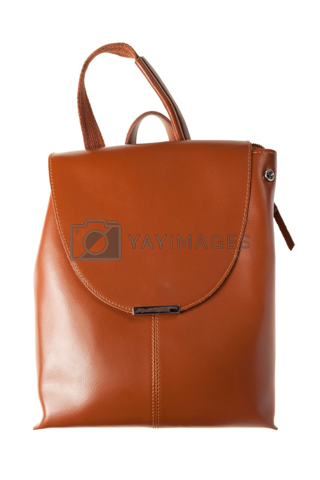 women bag backpack isolated on white background