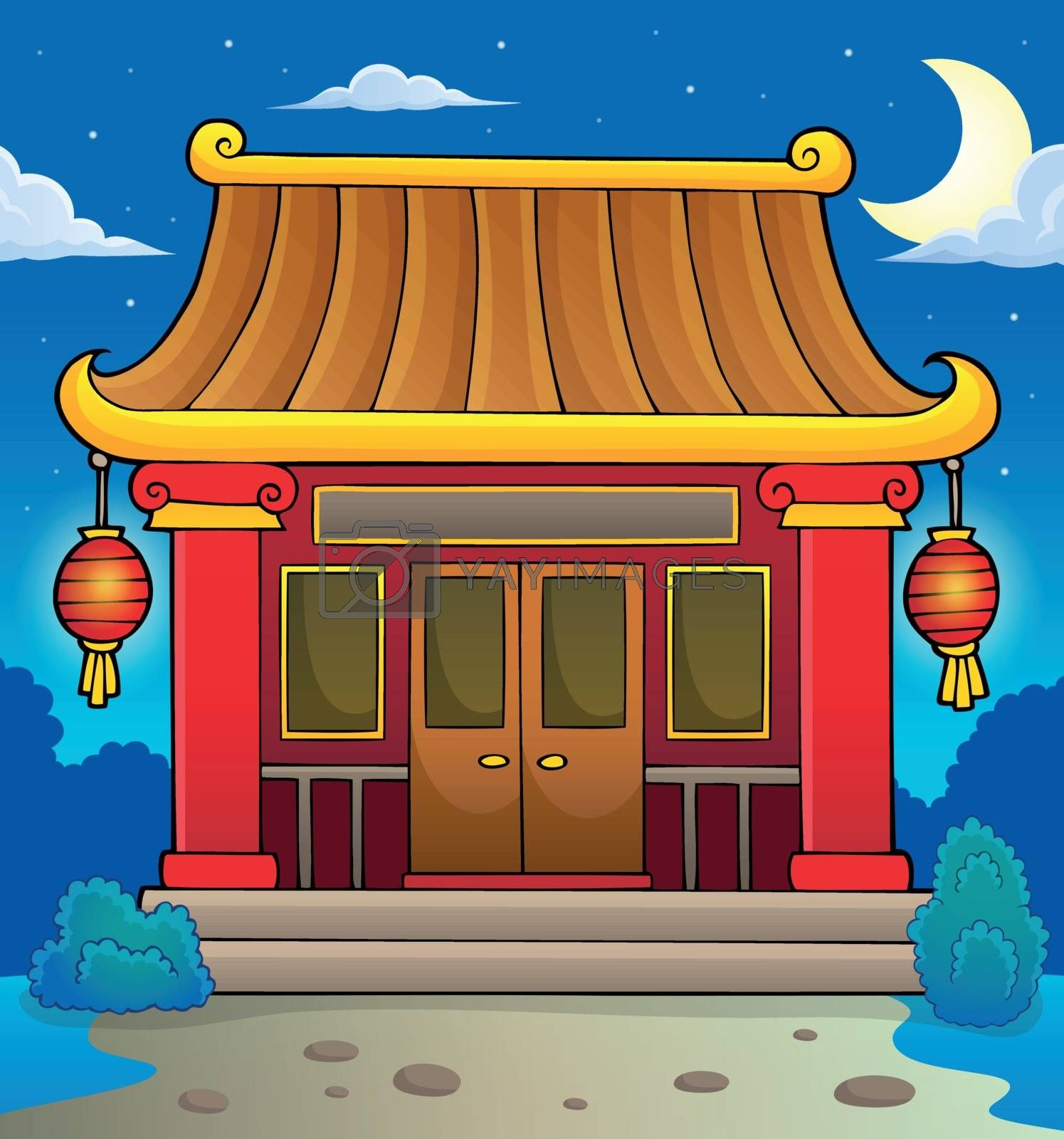 Chinese temple theme image 3 - eps10 vector illustration.