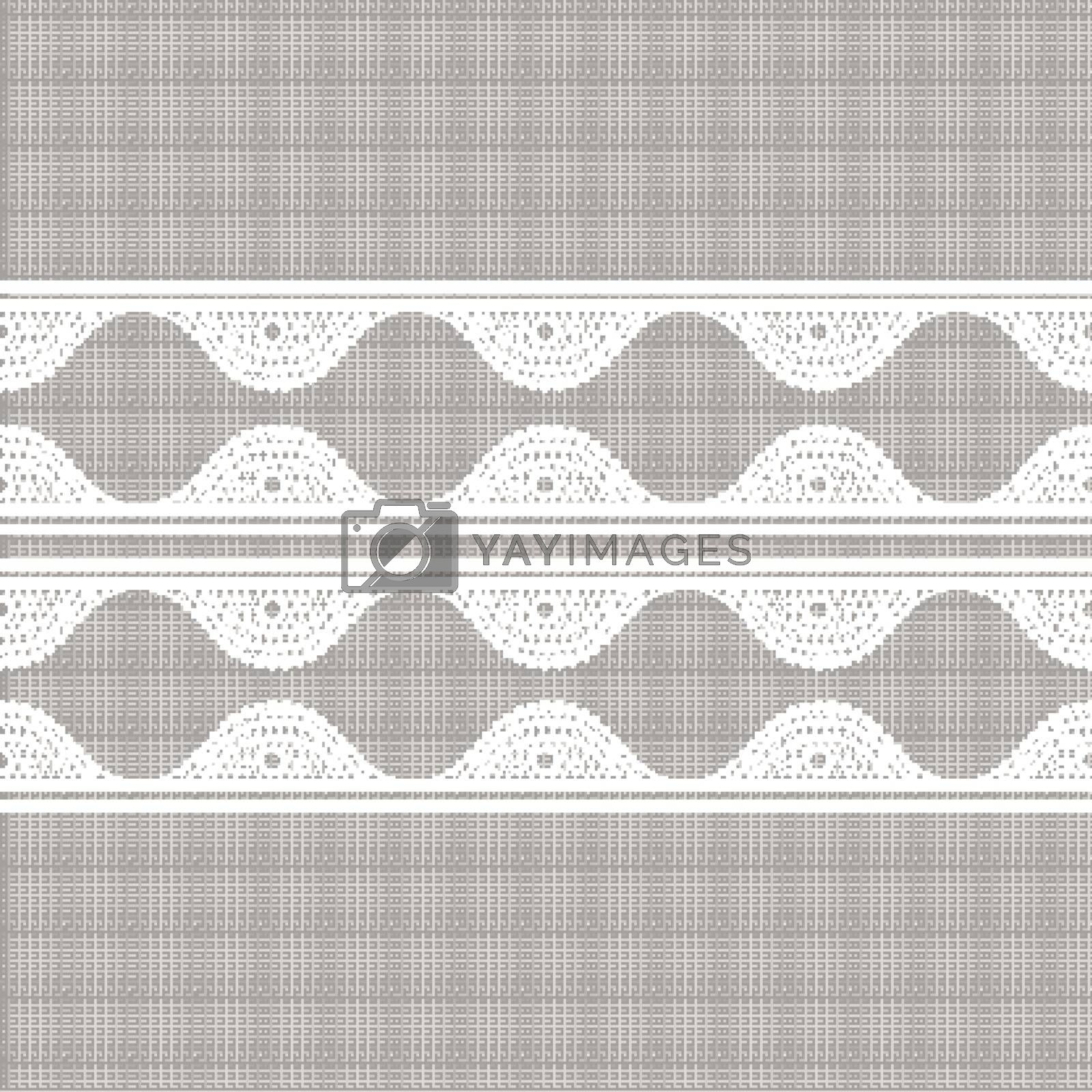 Canvas with lacy. Seamless abstract lace pattern. Vintage fashion textile. 10 eps