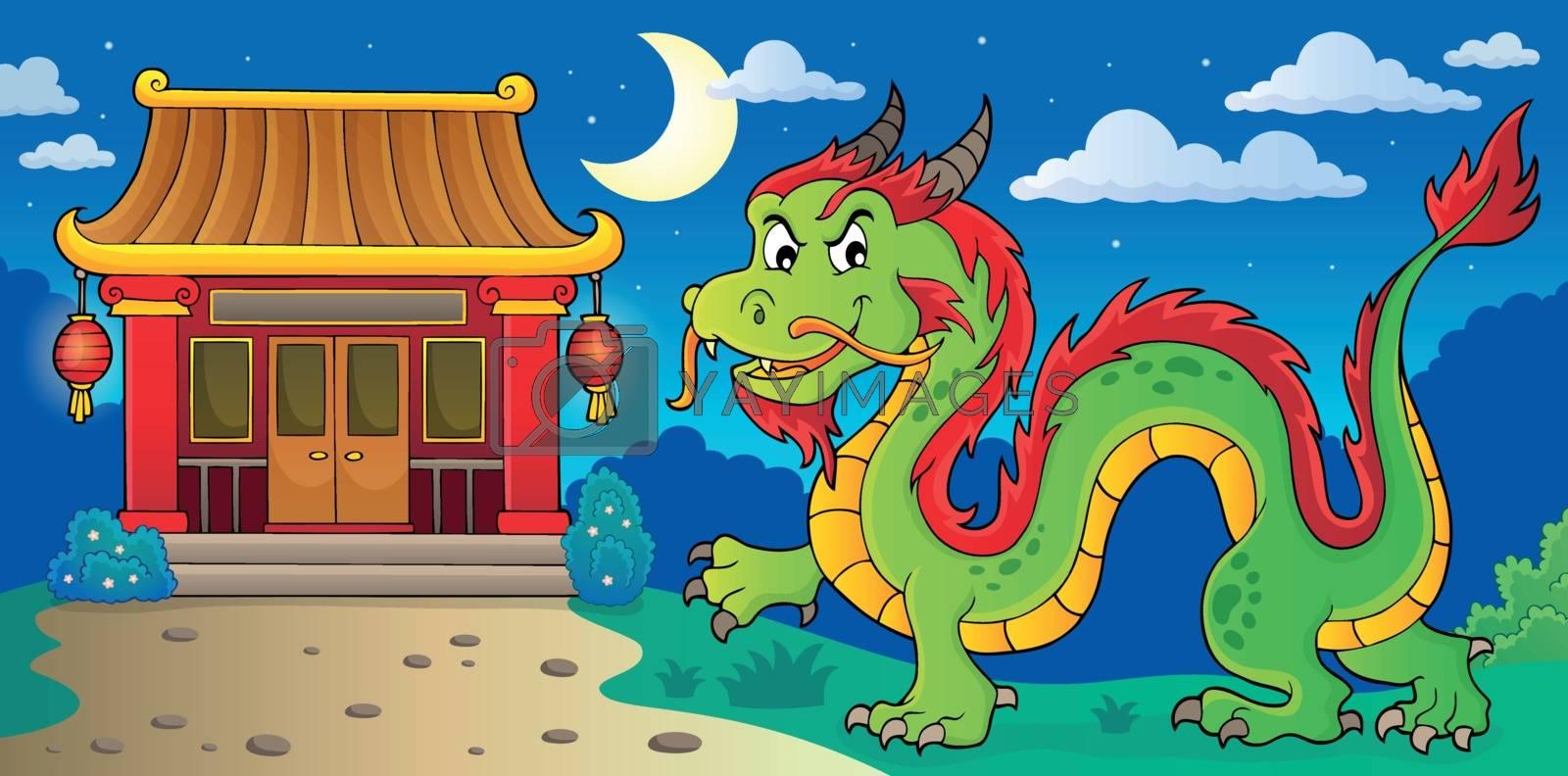 Chinese dragon theme image 4 - eps10 vector illustration.