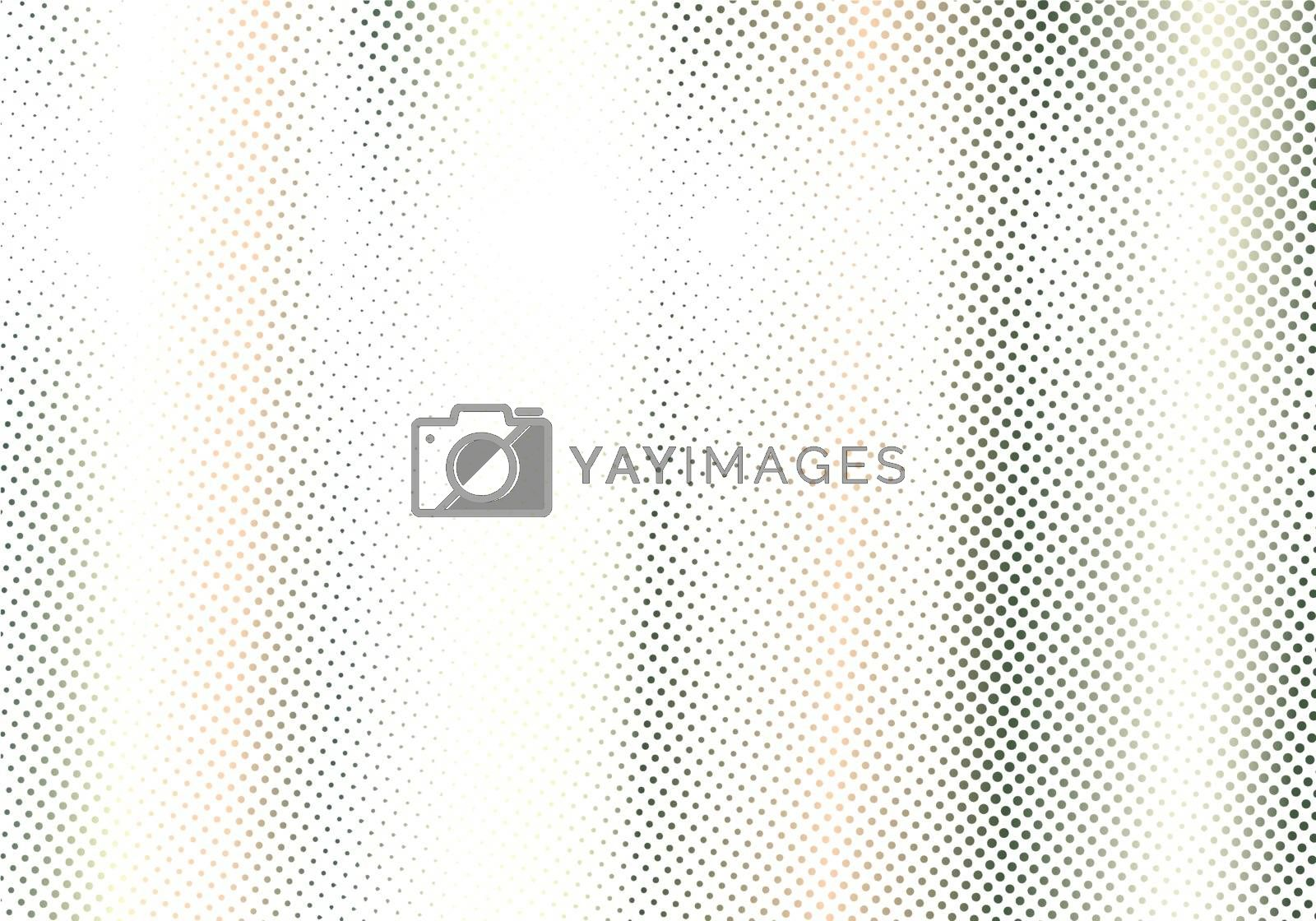 Abstract dots stripe halftone effect on white background and texture. Retro 80's style color. Vector illustration