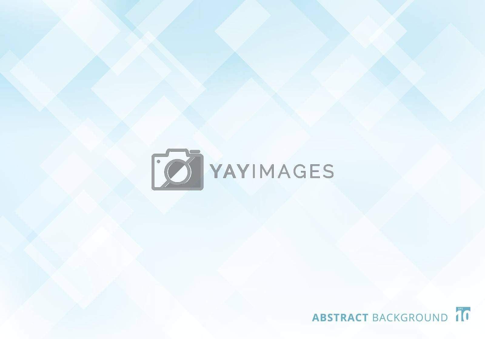 Abstract elegant squares shapes pattern overlay layer geometric white and blue gradient color background. Vector illustration