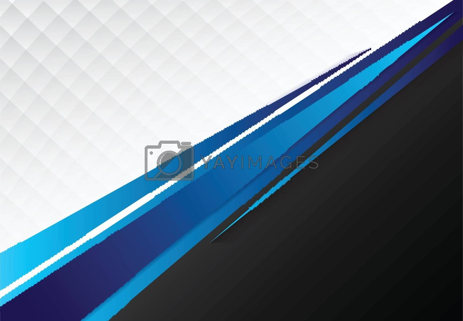 template corporate concept blue black grey and white contrast background. Vector graphic design illustration, copy space