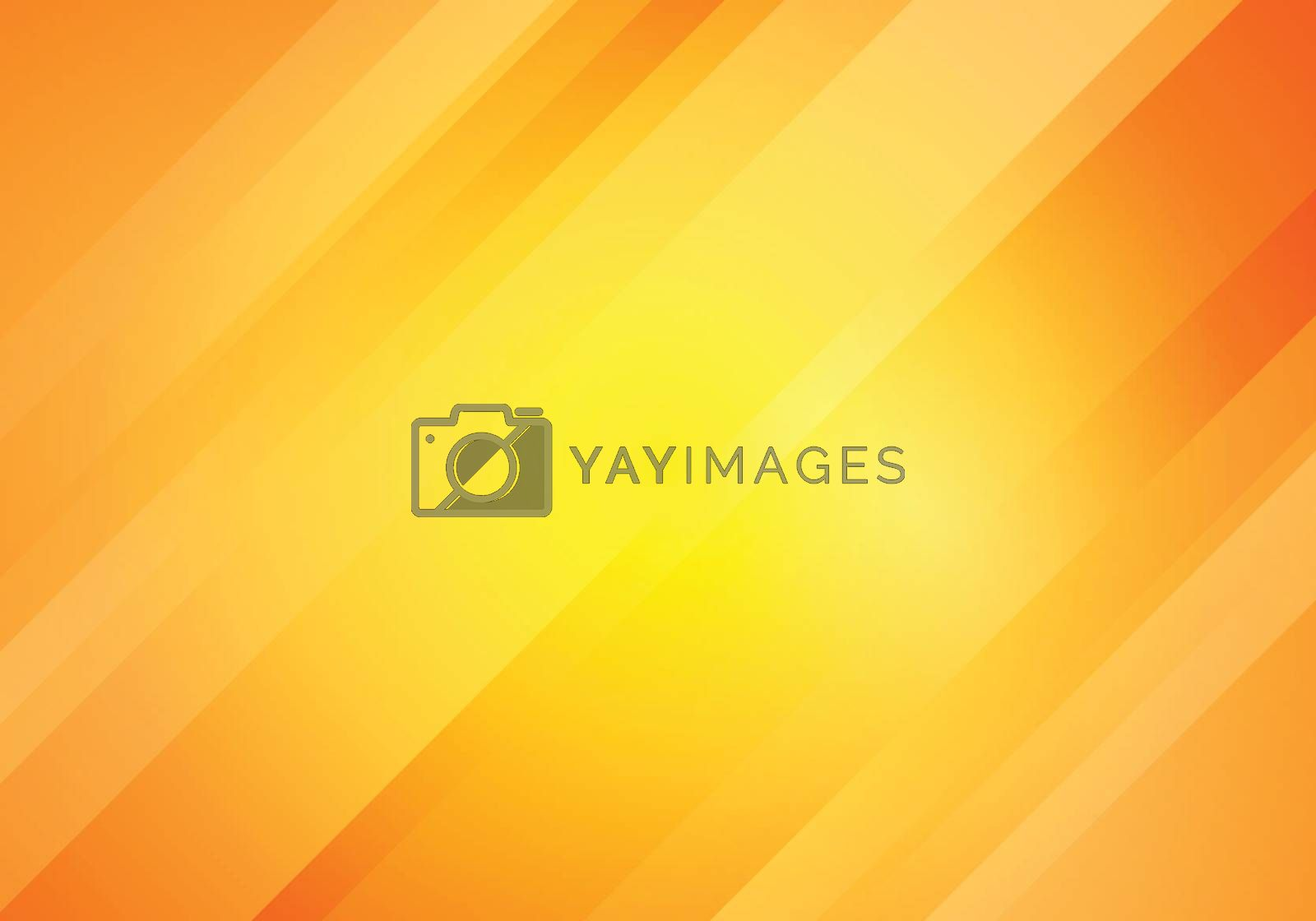 Abstract yellow and orange gradient color oblique lines stripes background. Geometric minimal pattern modern sleek texture. Vector illustration