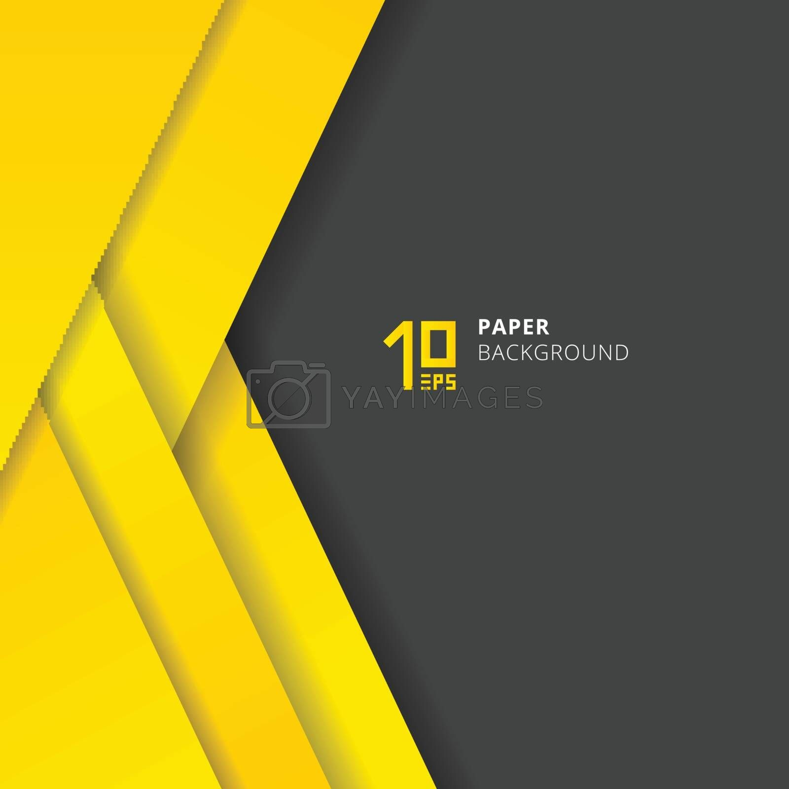 Template abstract geometric triangles layer yellow paper cut sty by phochi