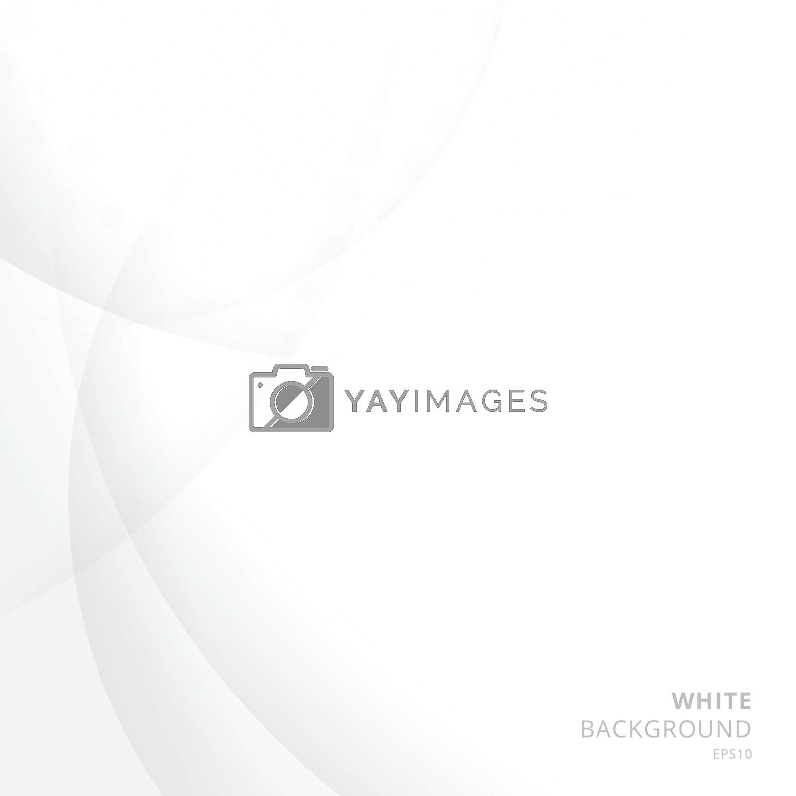 Royalty free image of Abstract white background with circle and curve and halftone tex by phochi