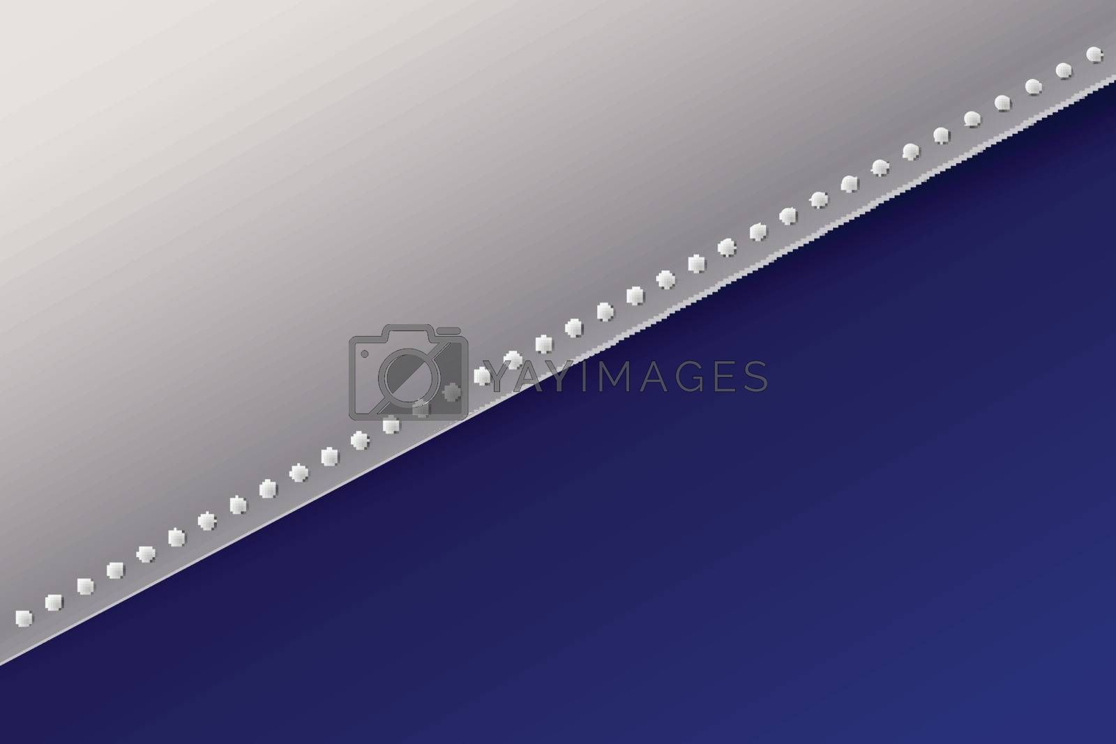 Abstract presentation template paper sheet overlap blue and white gradient color background. Vector illustration
