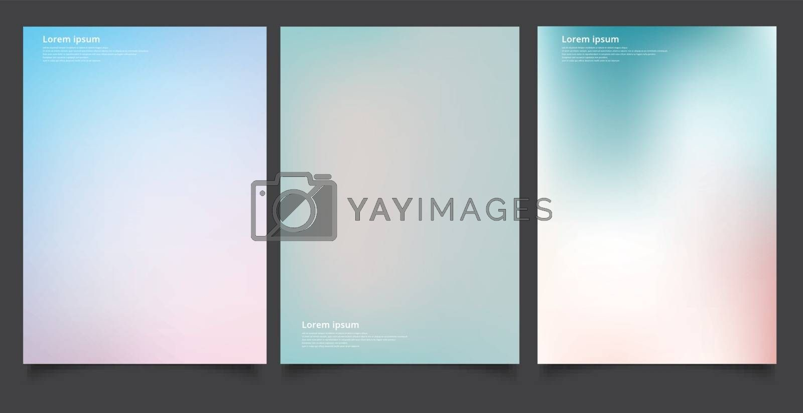 Set of abstract soft blurred gradients background graphic design by phochi