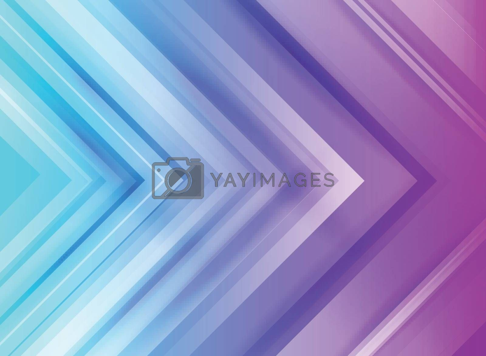 Abstract technology corporate arrows blue and purple gradients background. Vector illustration