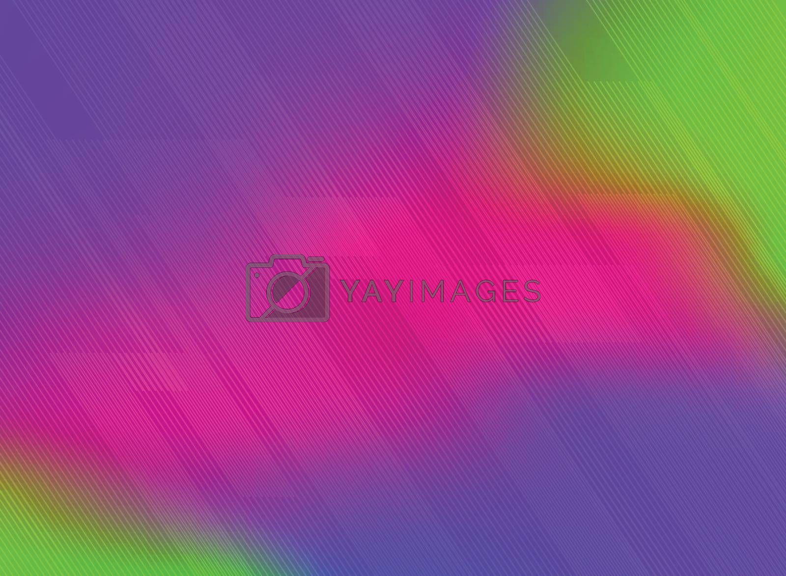 Abstract lines pattern technology on vivid color gradients background. Vector illustration