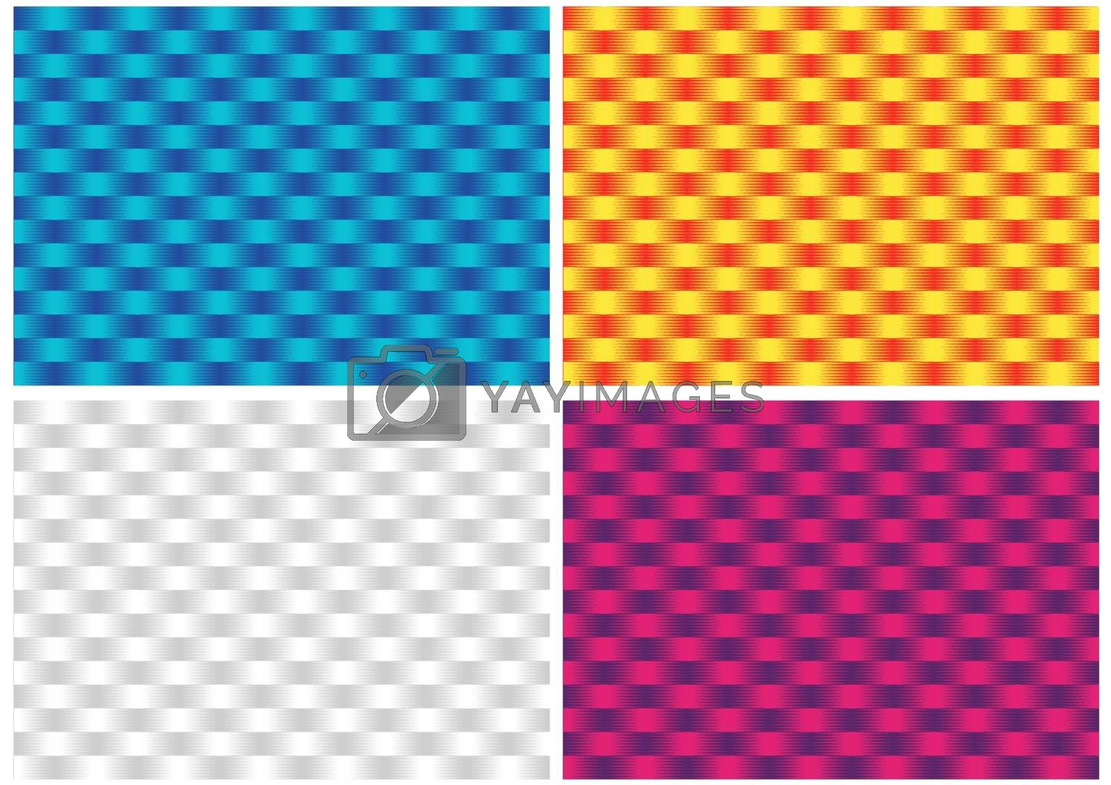Abstract Geometric Gradient Textures - Set of Colored Background Illustrations for Your Graphic Projects, Vector