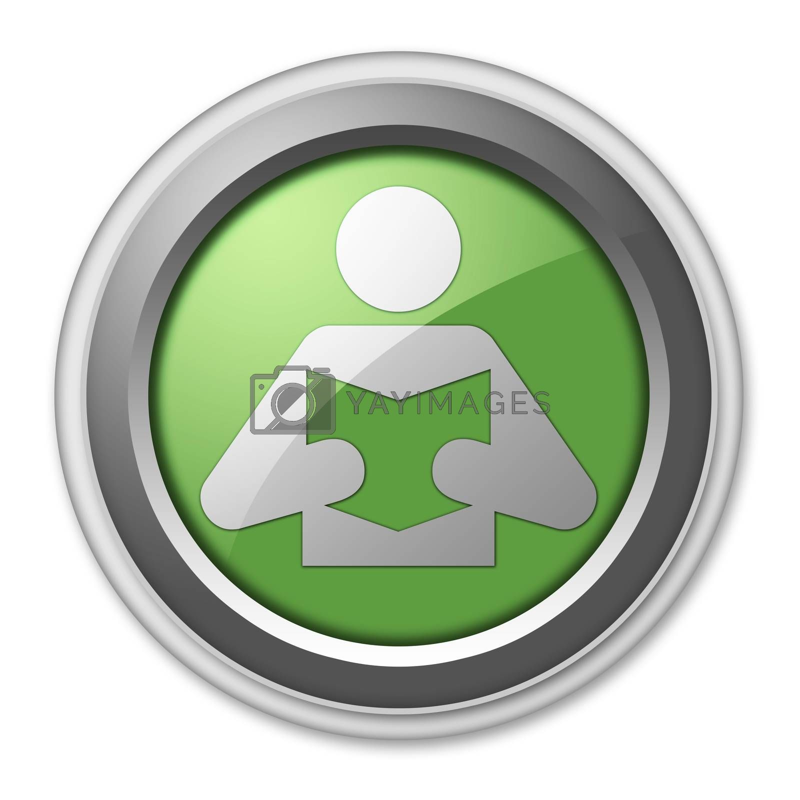 Icon, Button, Pictogram with Library symbol