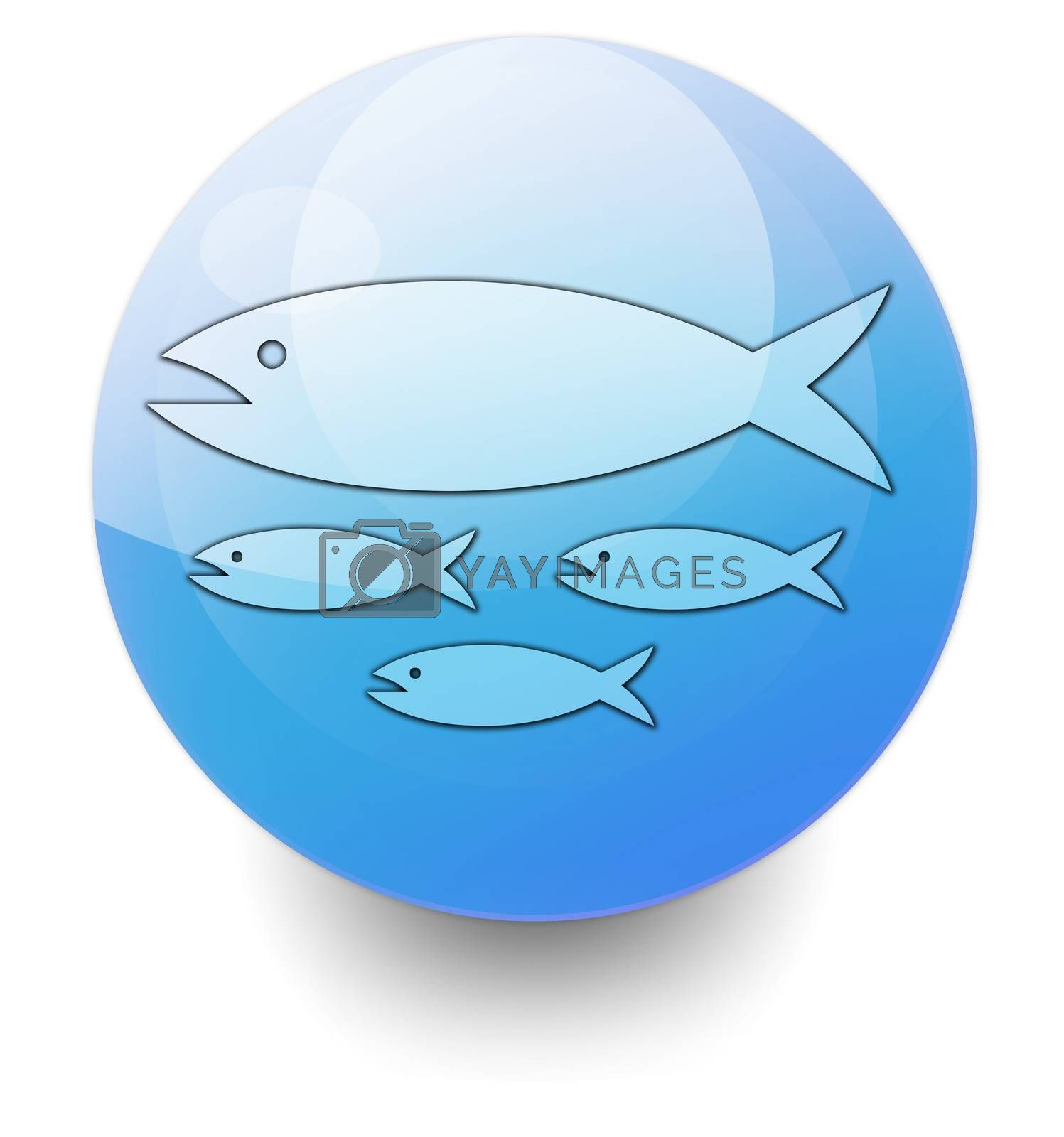 Icon, Button, Pictogram with Fish Hatchery symbol