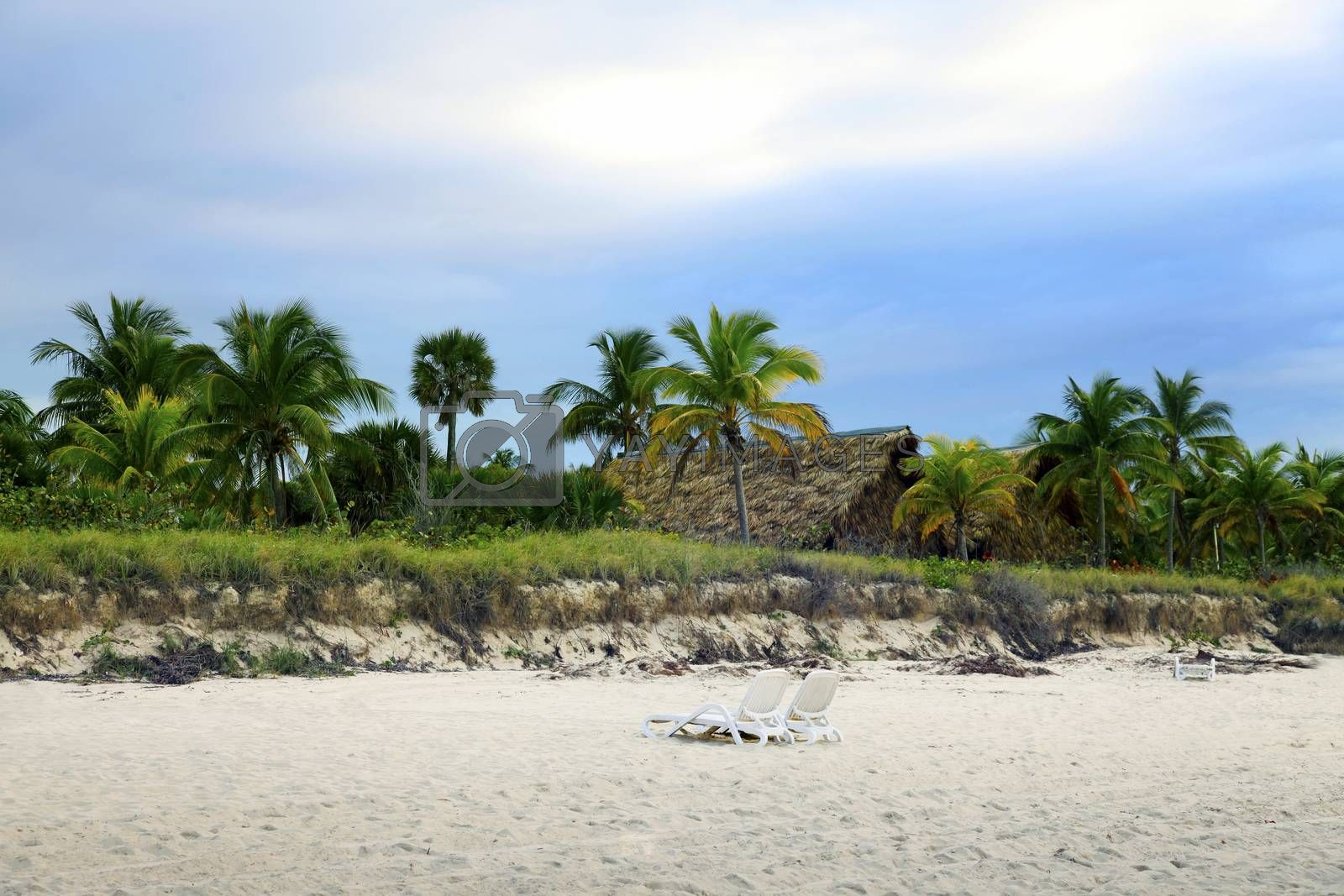 Royalty free image of Cuban beach on sunset by friday