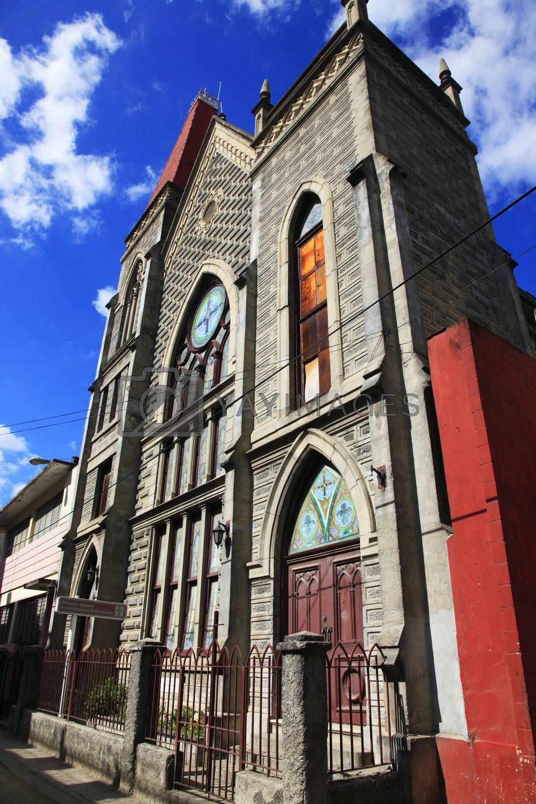 Royalty free image of First Presbyterian Reformed Church in Havana by friday