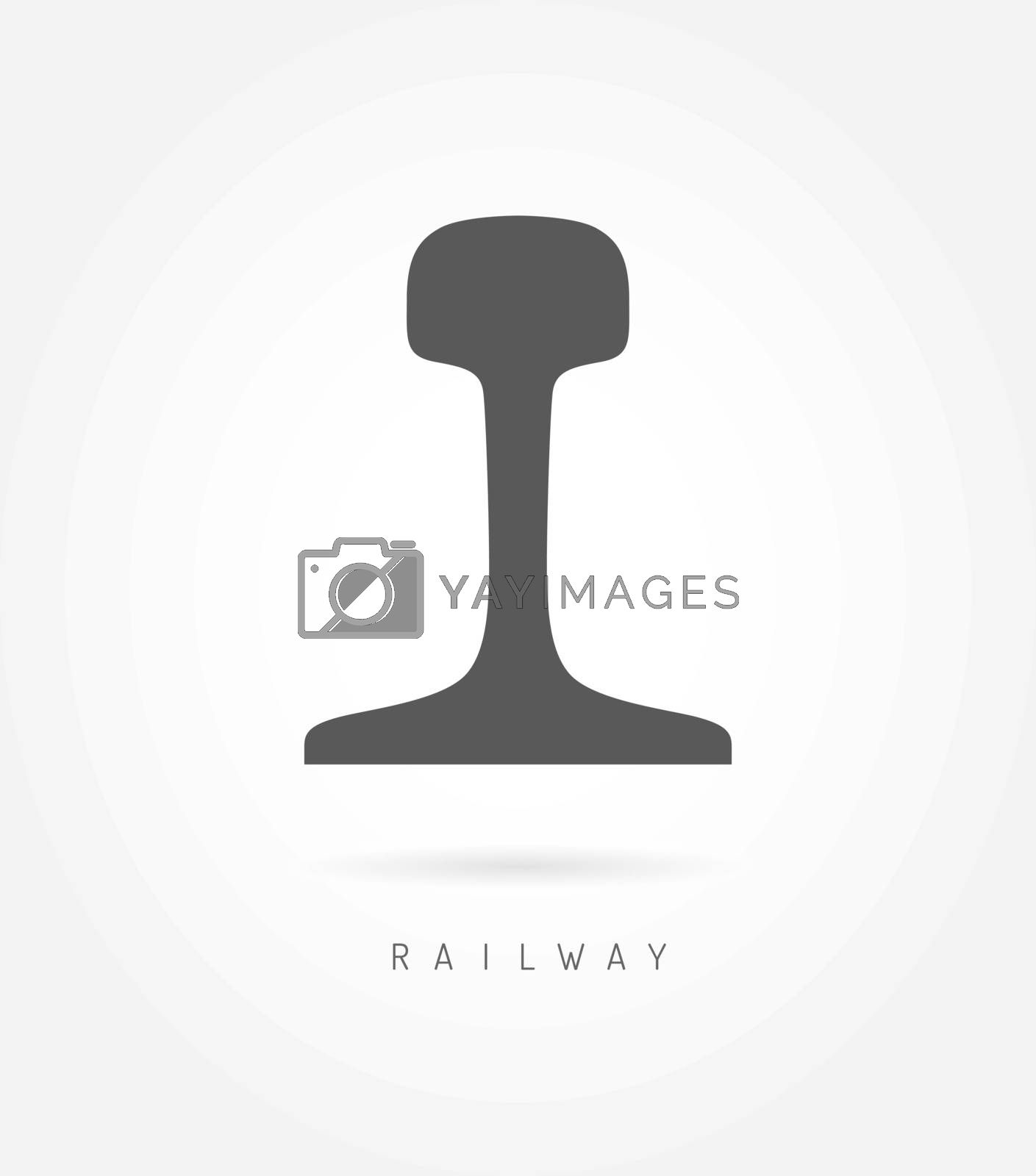 Rail logo icon railway business concept