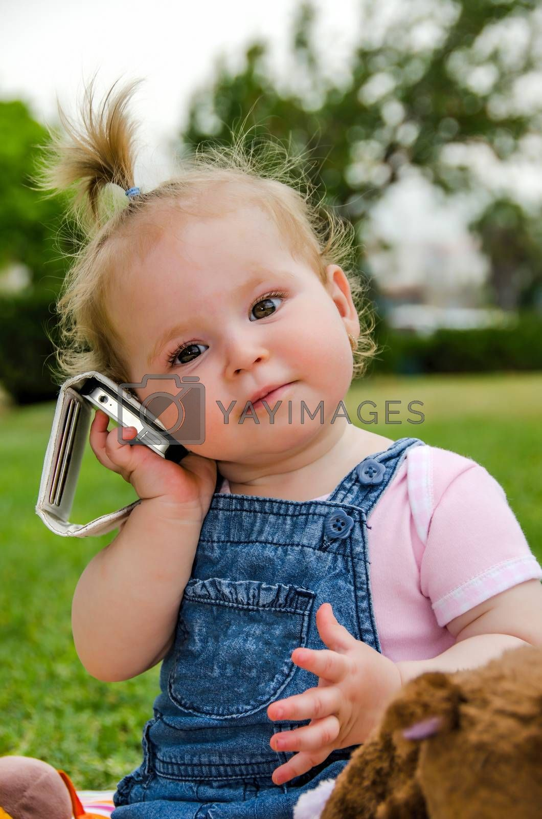 Child took the cell phone she likes to listen to music