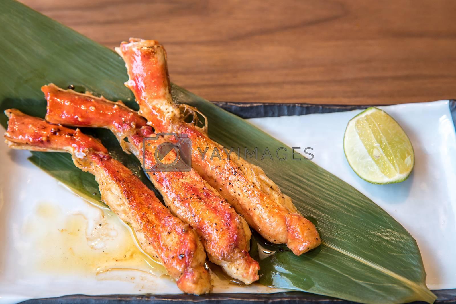 grilled taraba japanese king crab