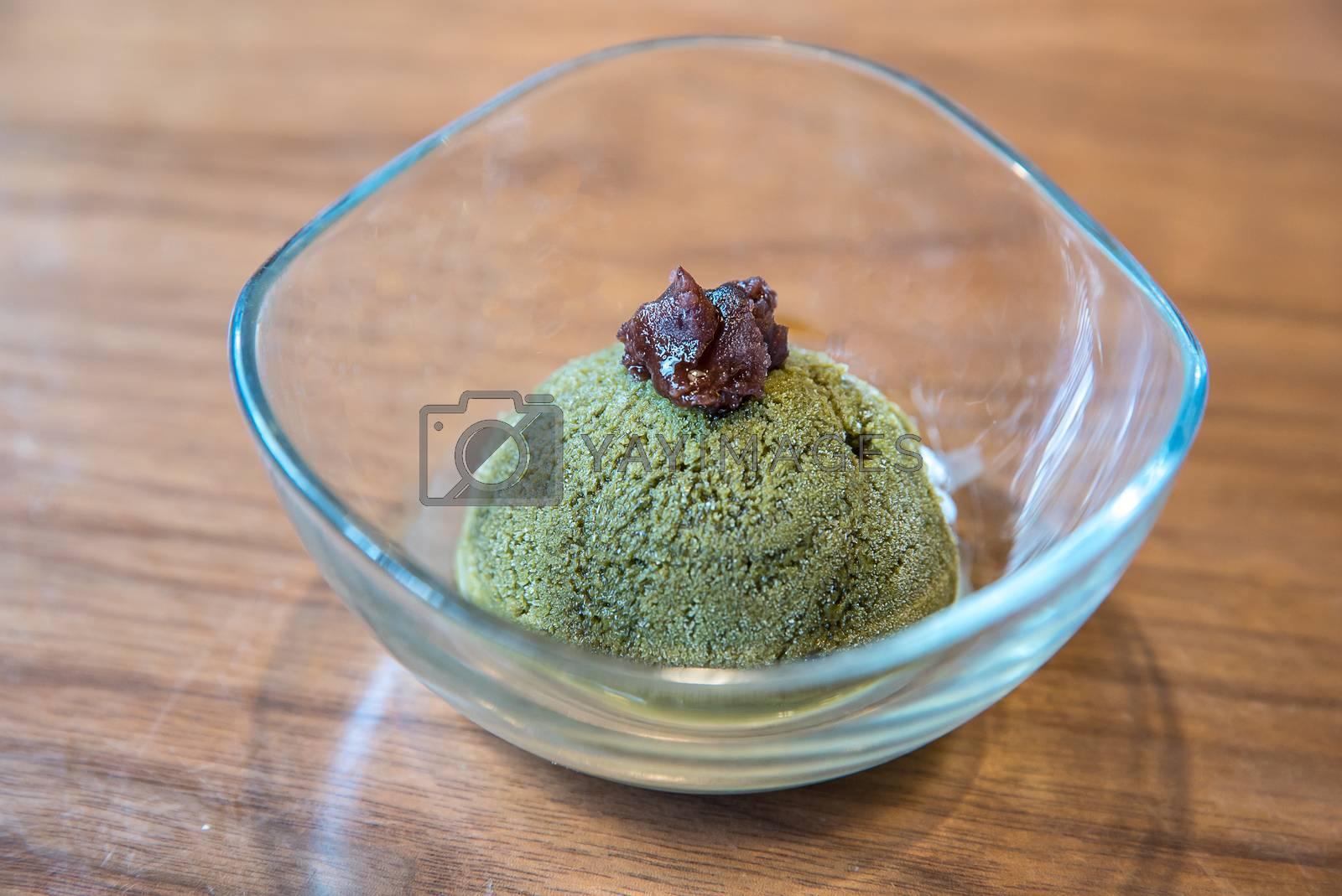 Home Made Green tea sherbet ice cream