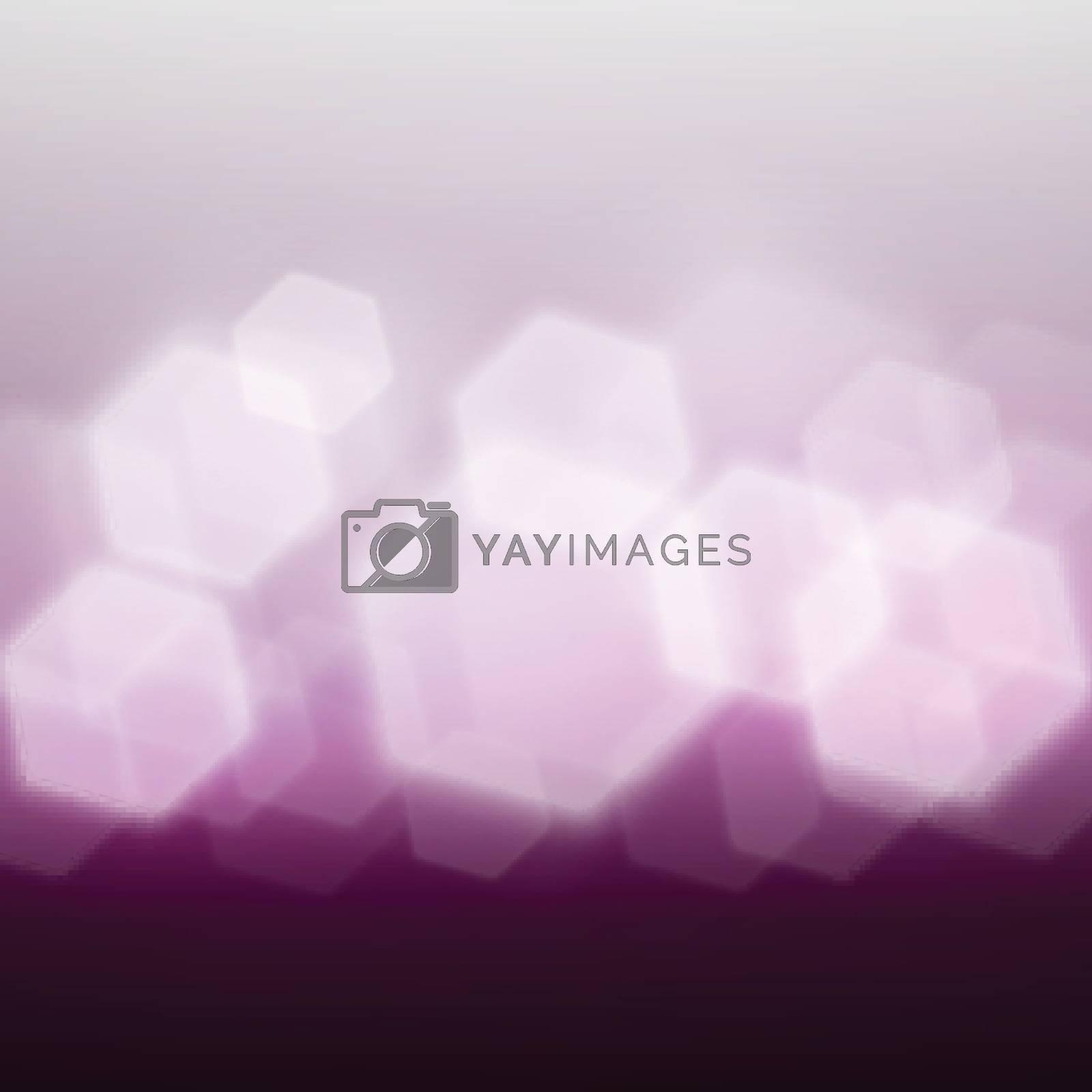 Purple bokeh with hexagon shape.