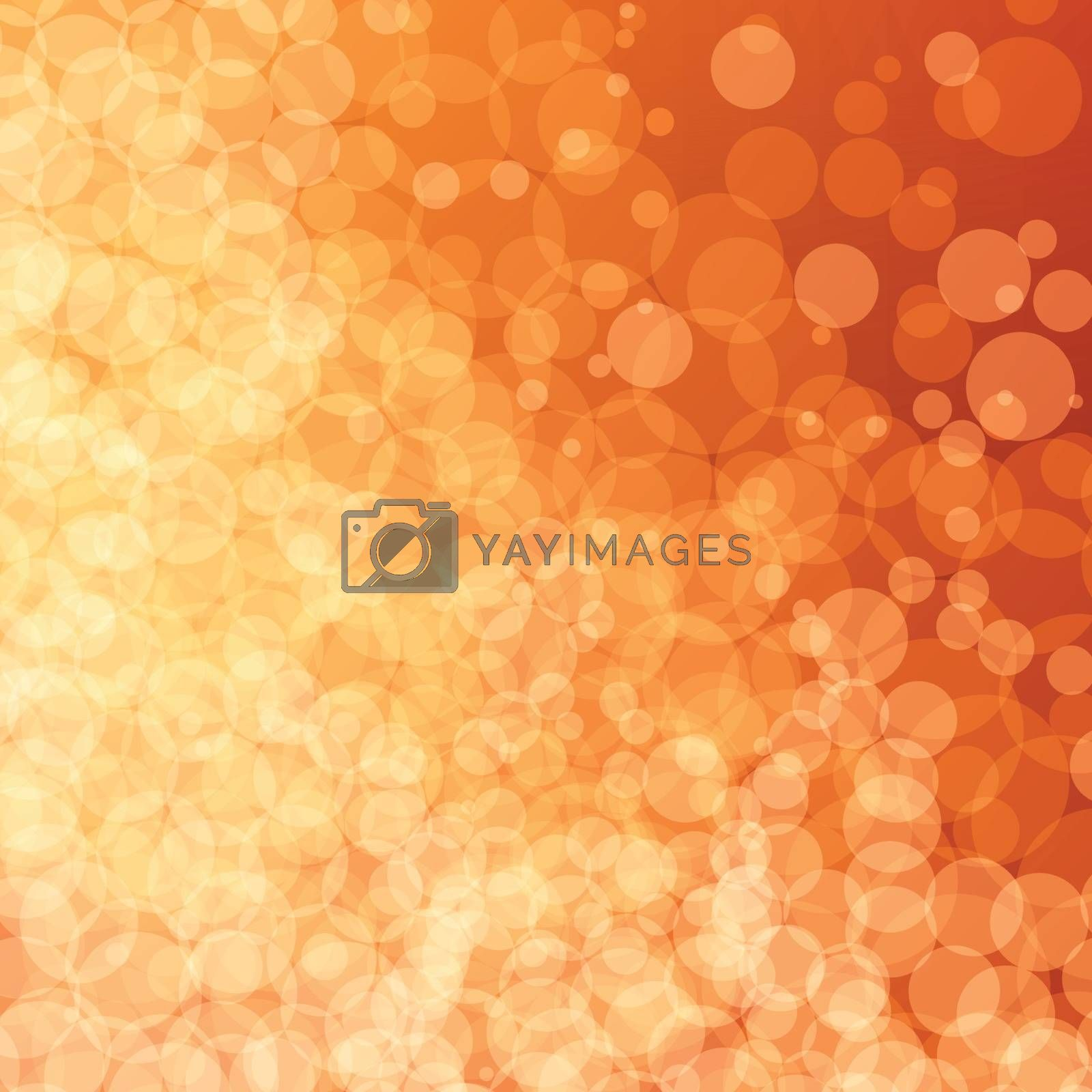 Abstract vector background with yellow bokeh effect.