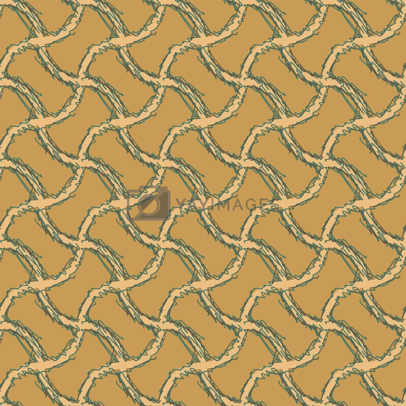 Seamless pattern with brown tone.