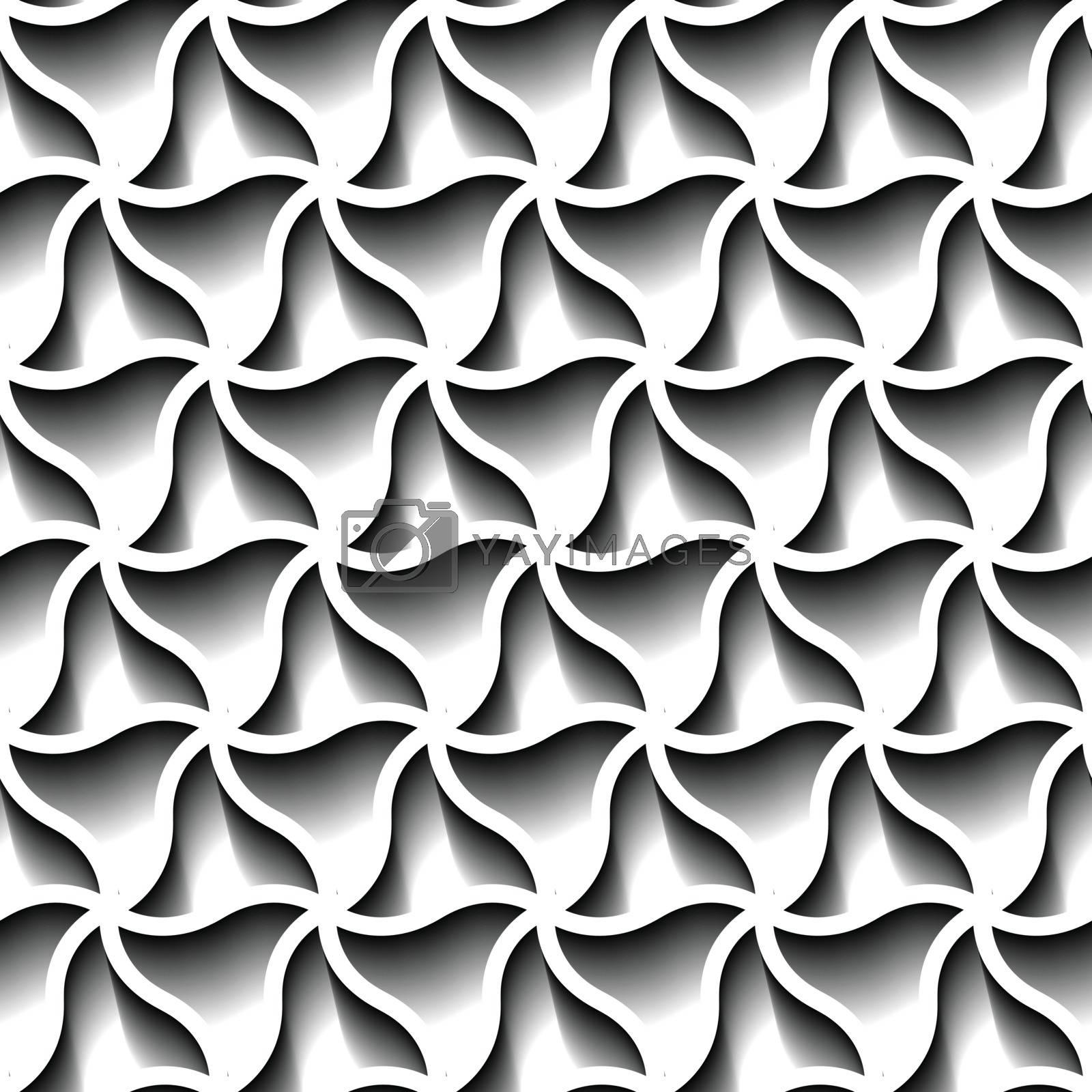 Seamless abstract geometric pattern, prame border futuristic wallpaper, 3d grey tile surface.