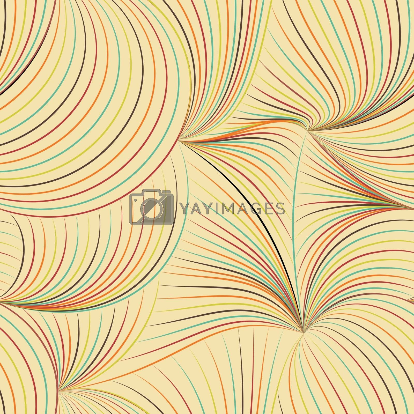 Abstract color background and seamless pattern on vector art.