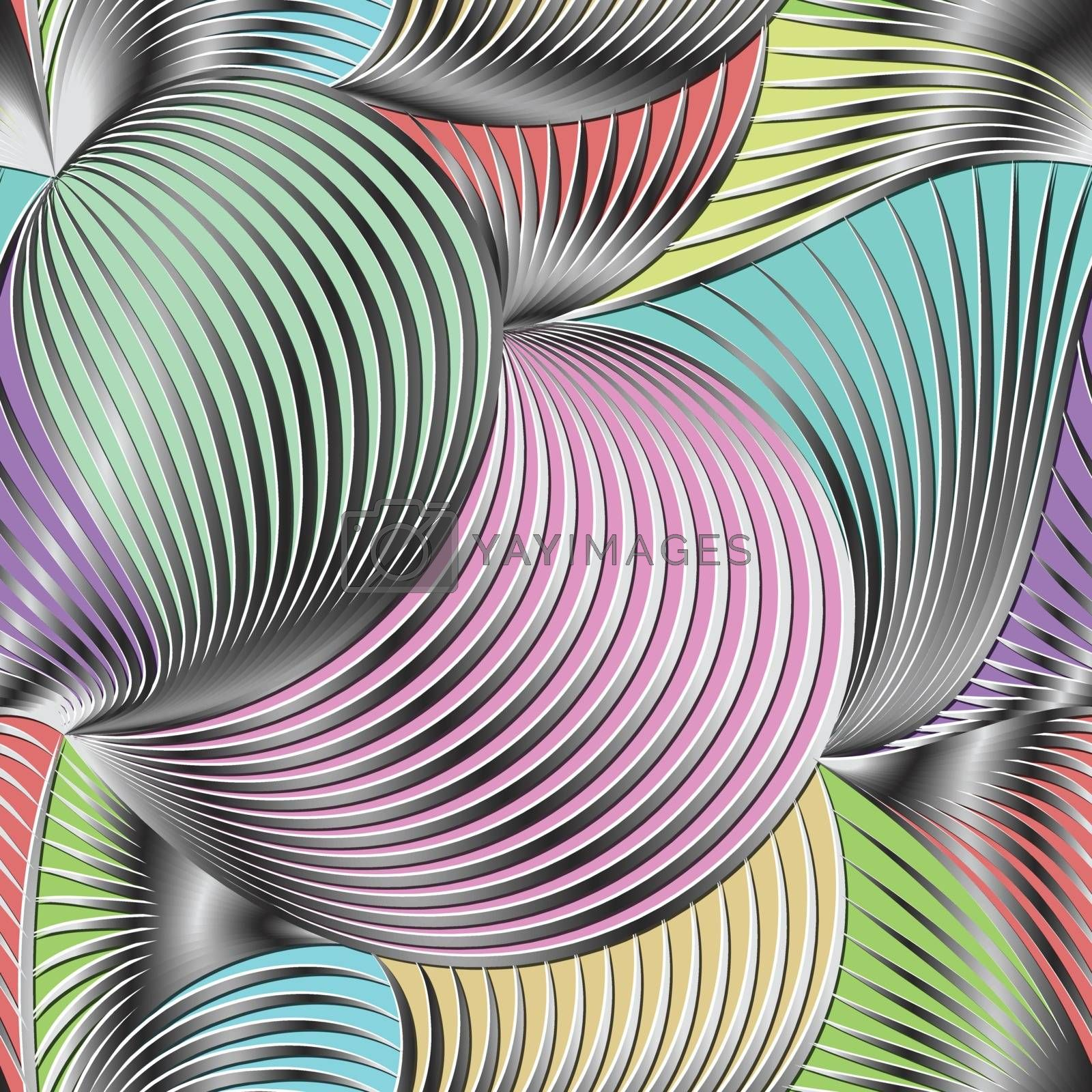 Gray scale  gradient line and and color background seamless pattern on vector art.