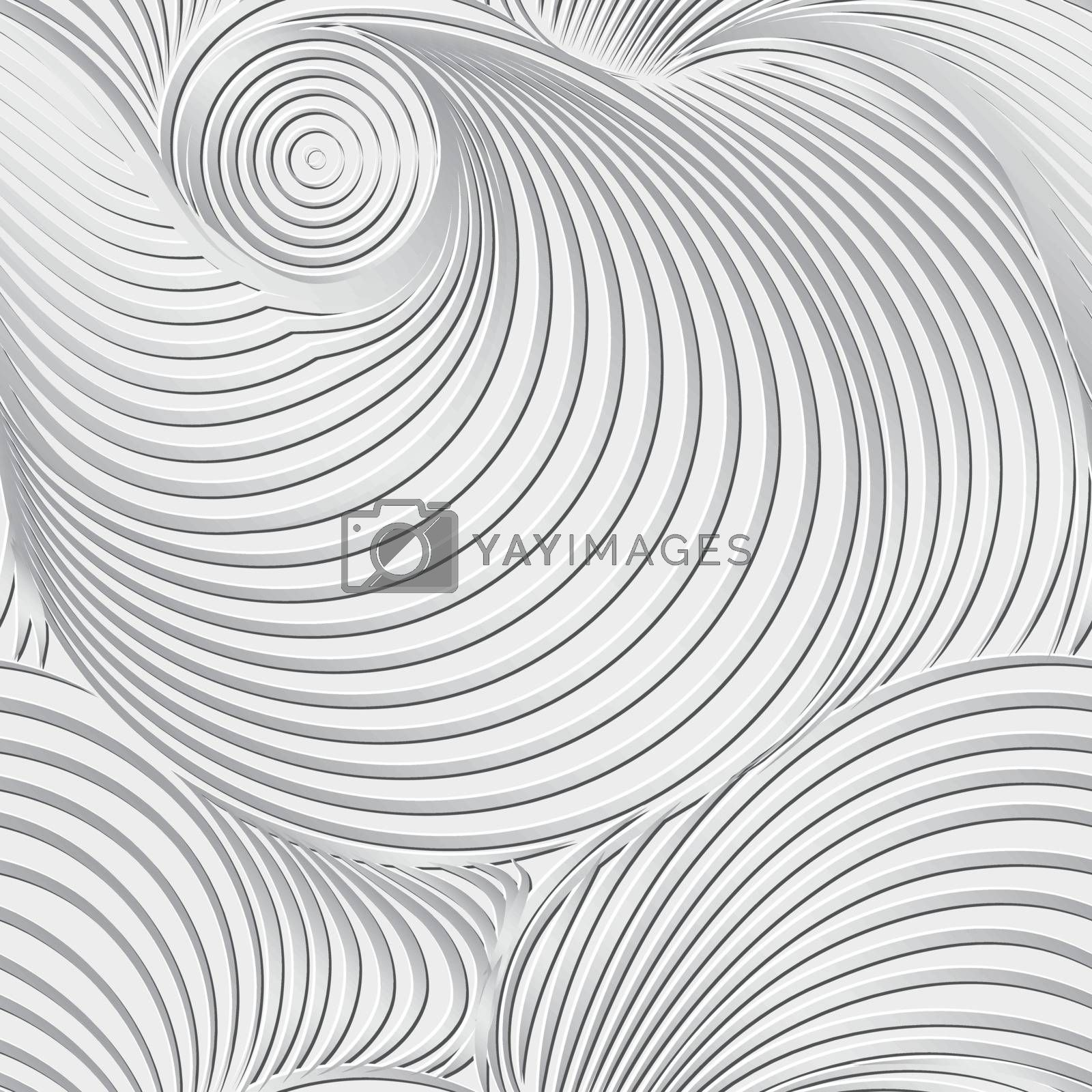 Abstract black and white background and seamless pattern on vector art.