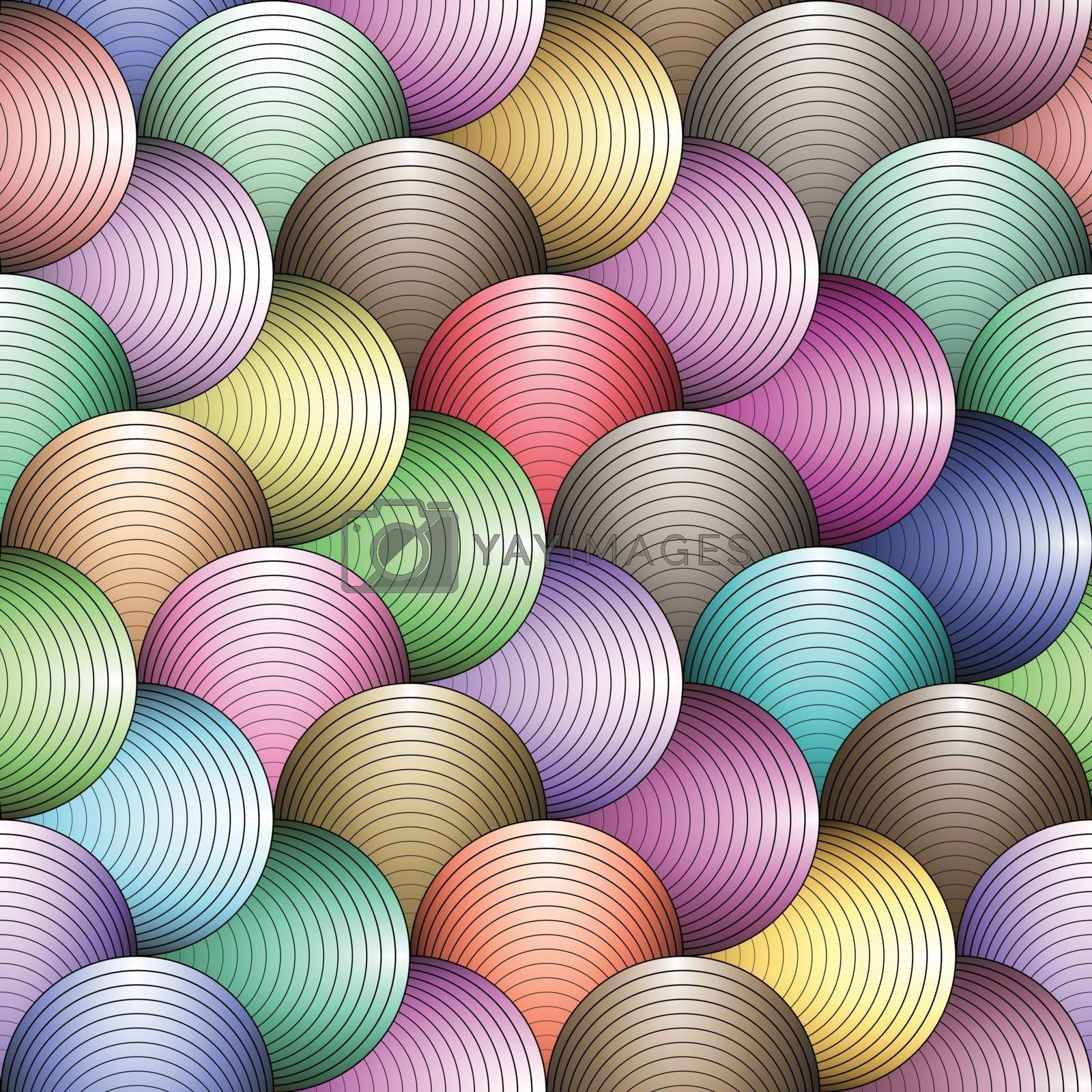 Abstract colorful geometric lines seamless pattern background.