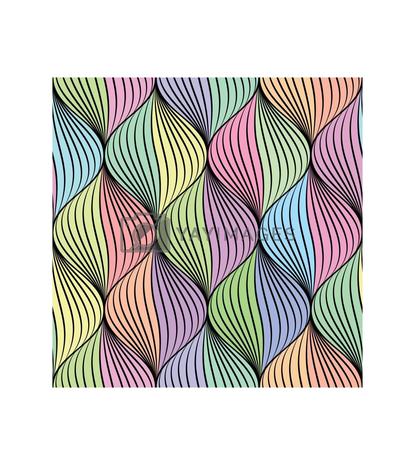 Abstract braid seamless pattern in colorful tone.