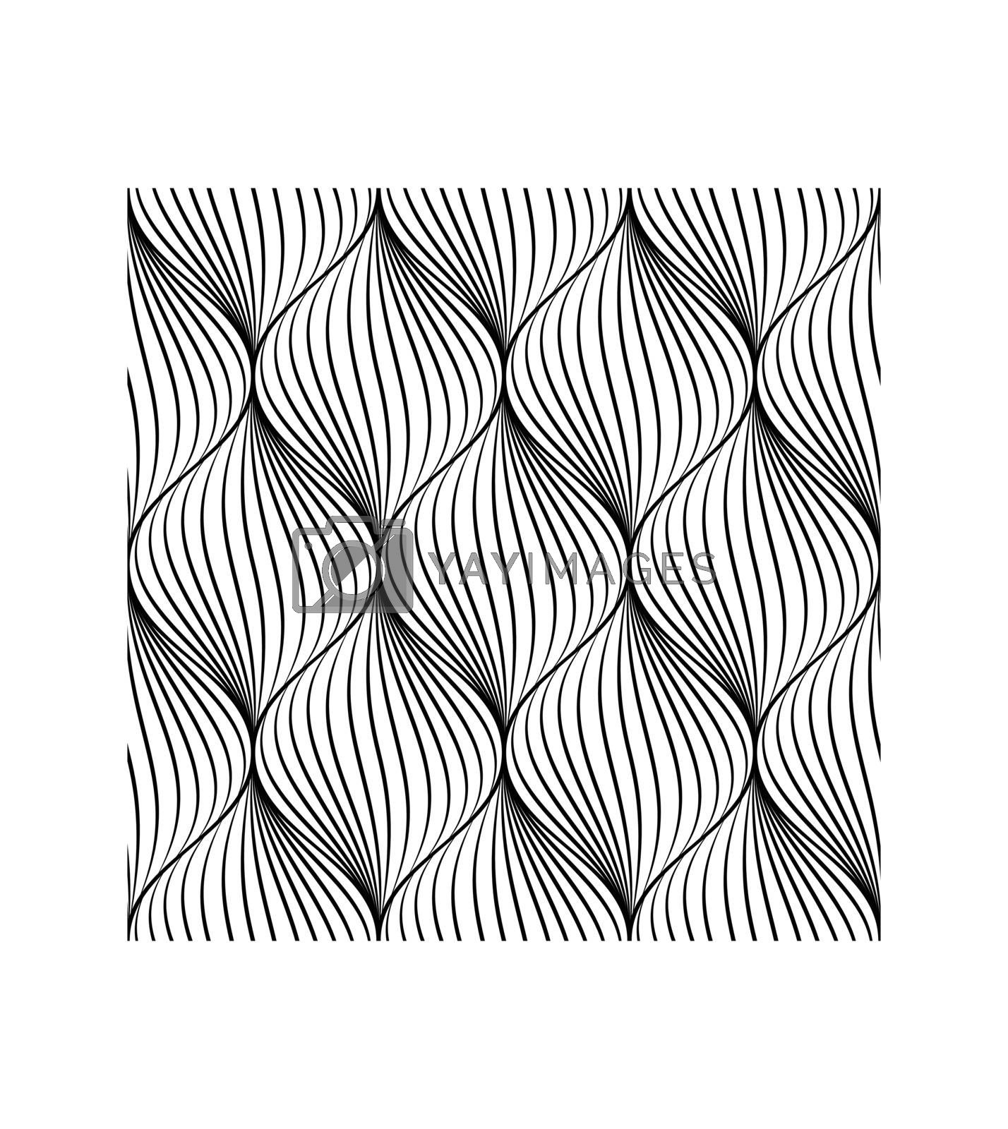 Abstract seamless pattern in spiral shape.