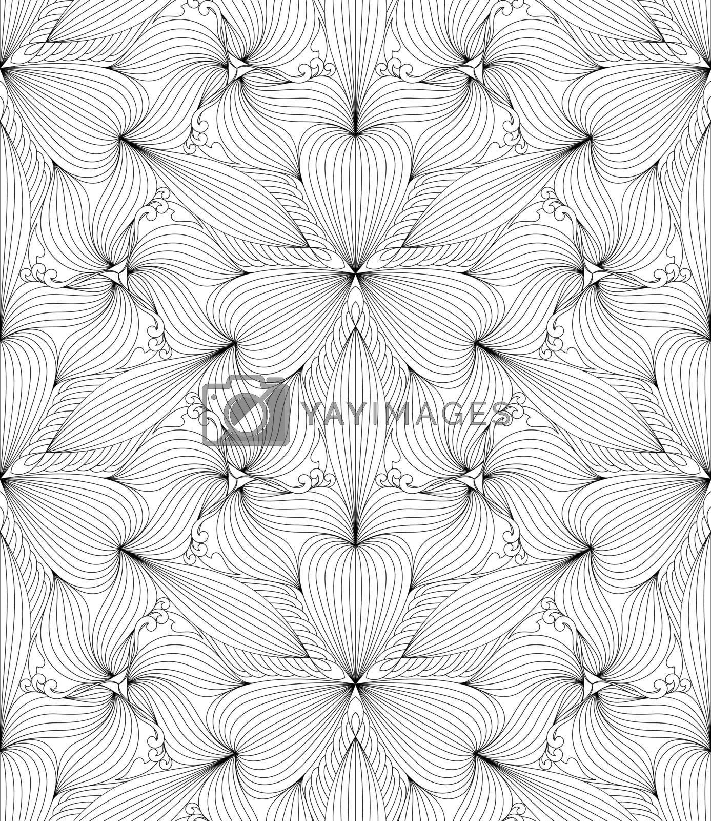 Abstract seamless geometric pattern, vector illustration.