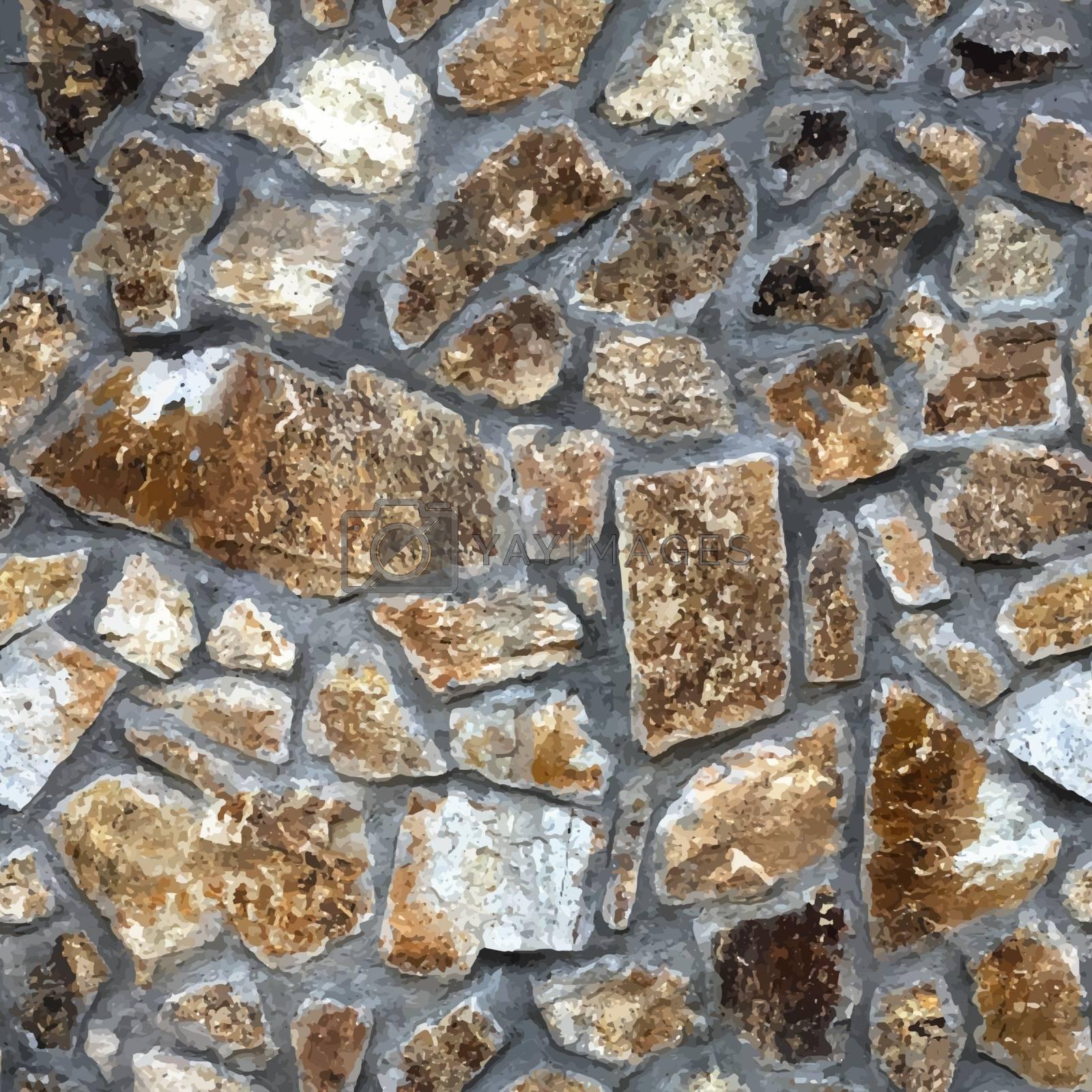 Realistic stone seamless background.