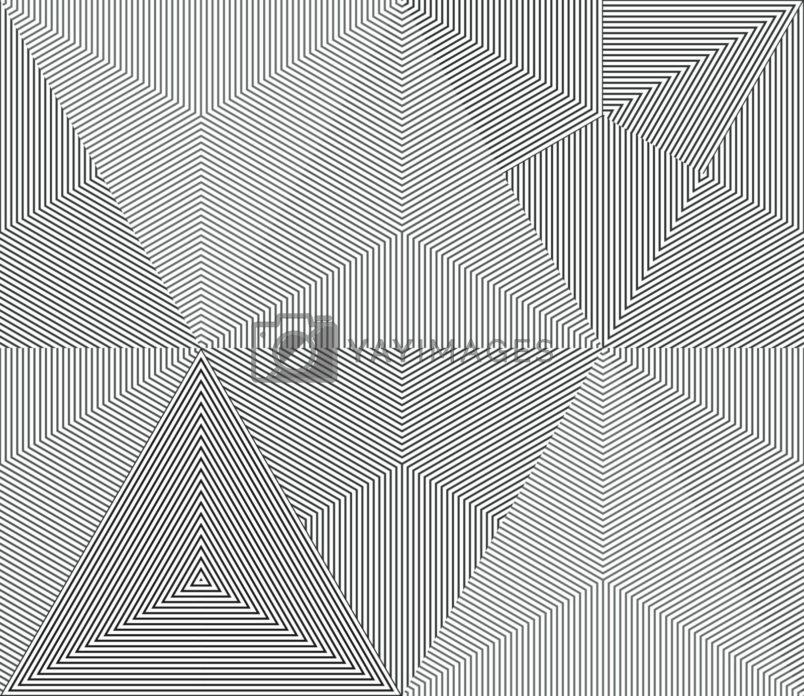 Geometric monochrome line seamless background.
