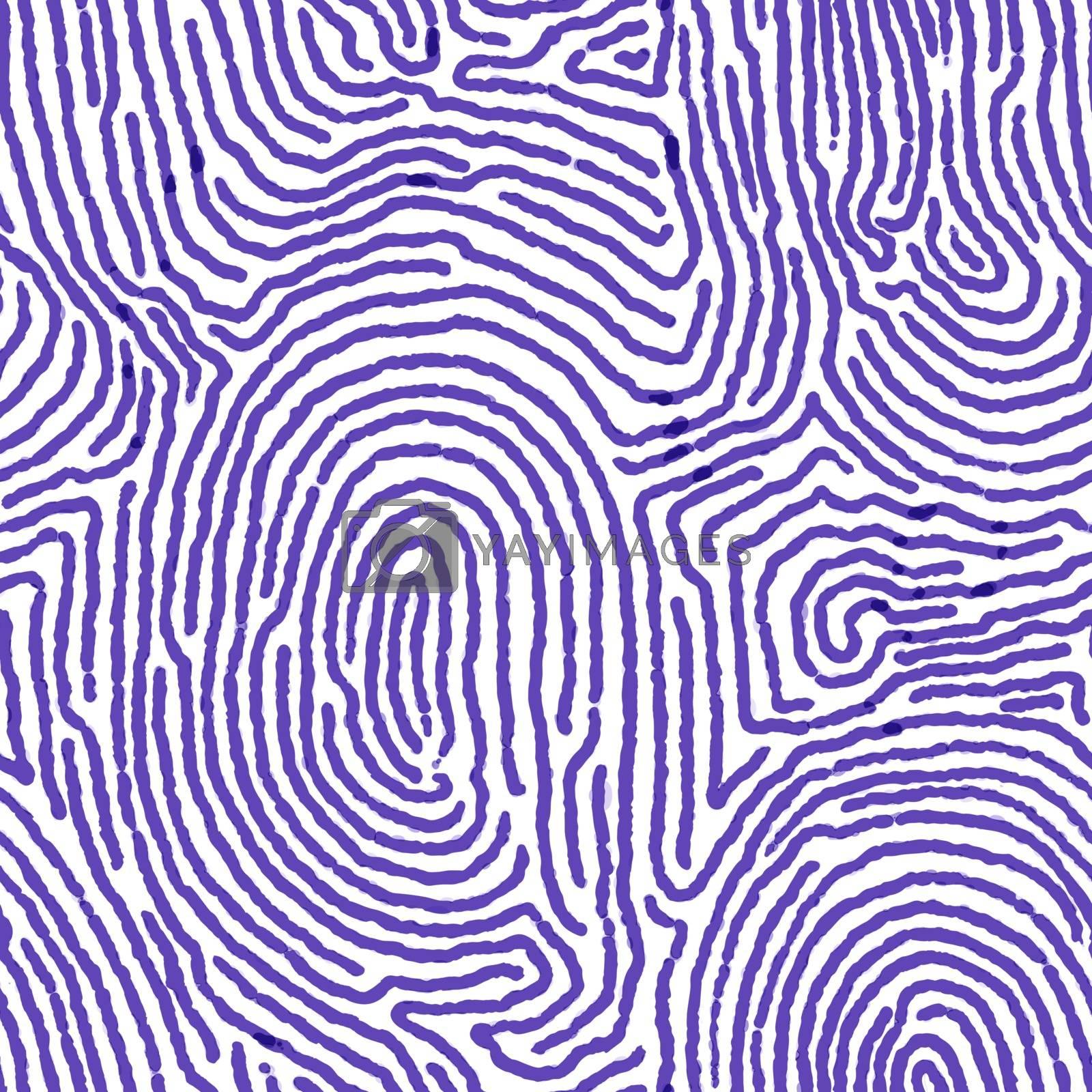 Blue finger print seamless background.