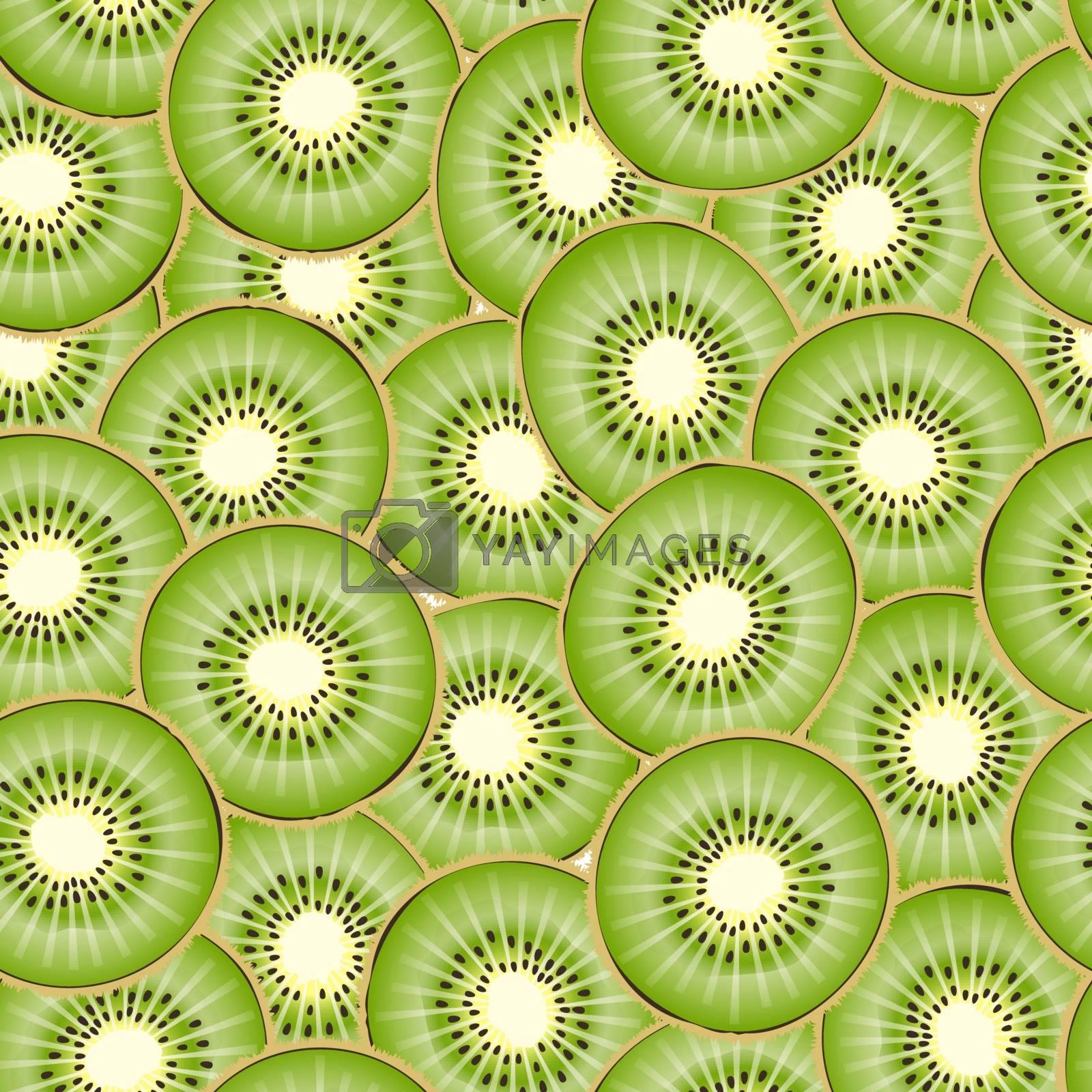 Kiwi piece seamless background.