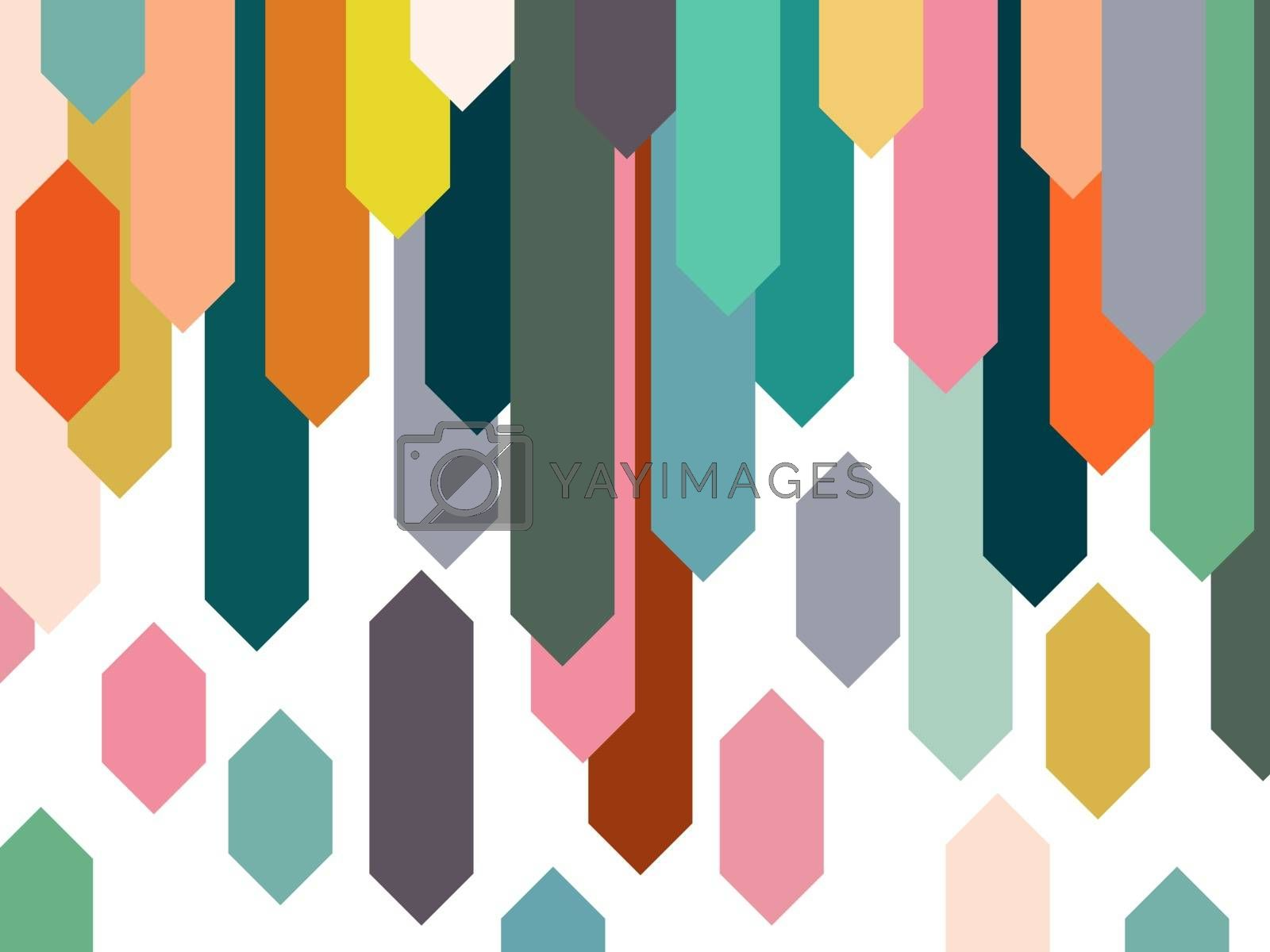 Colorful element abstract background.