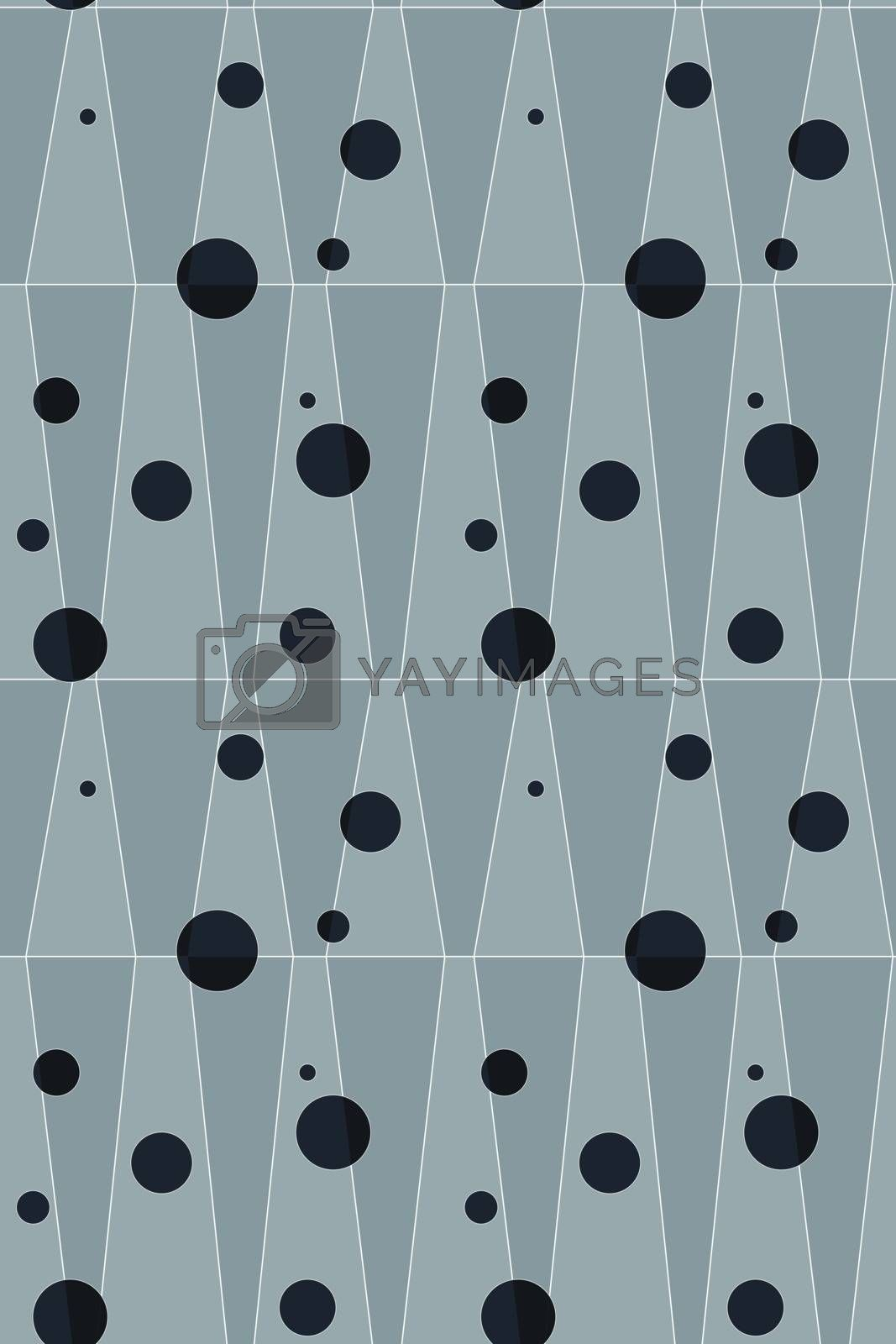 Abstract black dots seamless background.