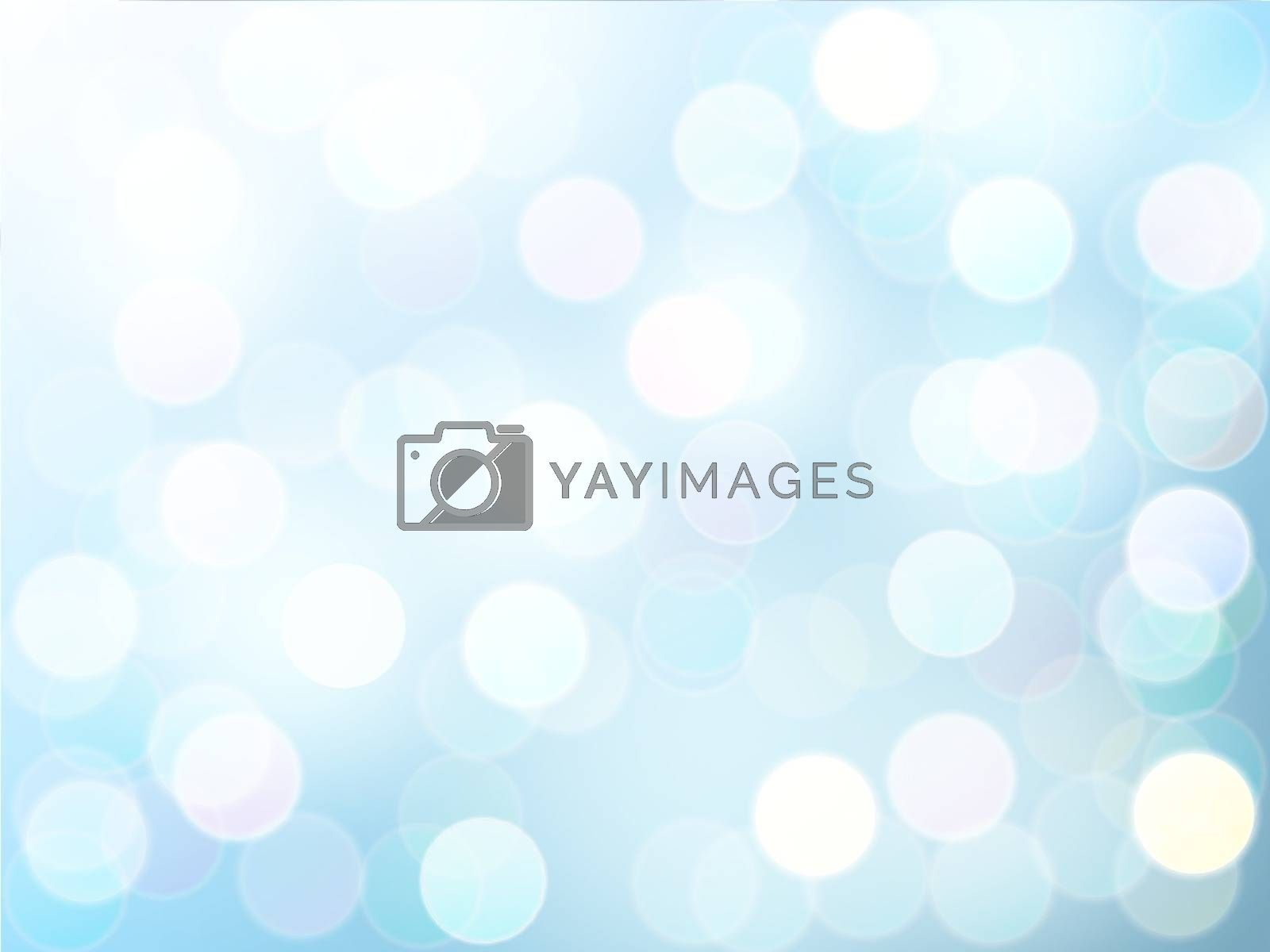 Blur bokeh light effect  with blue sky vector abstract background.