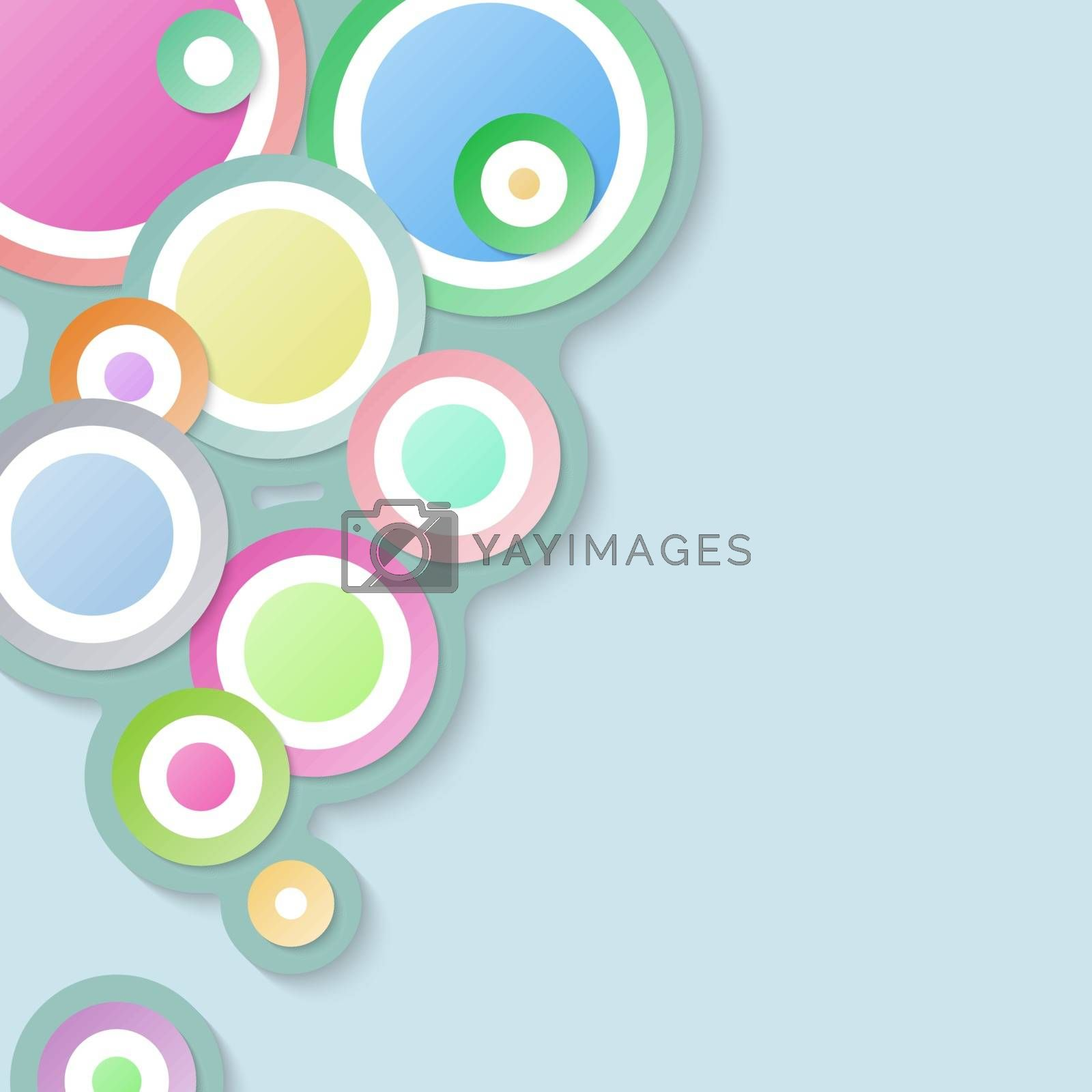 Circle abstract background with pastel color.