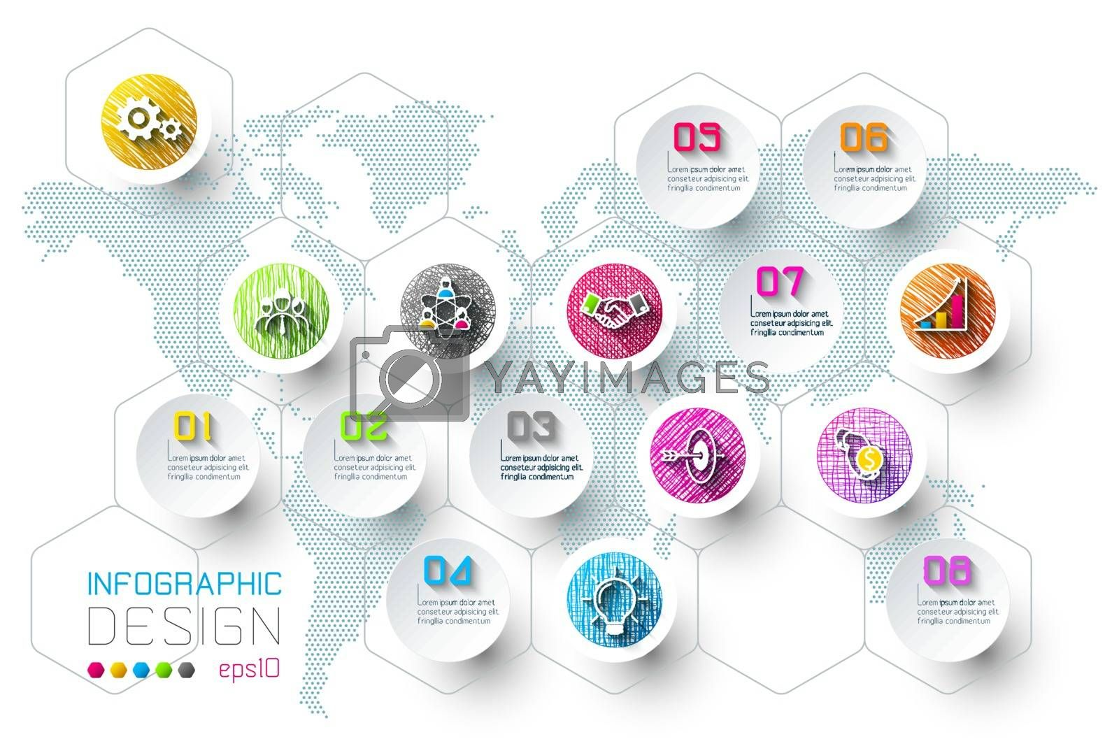 Business infographic with 8 steps. by narinbg