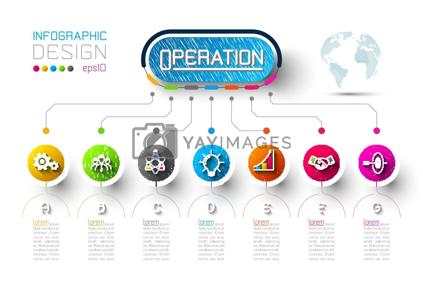 Business infographic with 7 steps. by narinbg