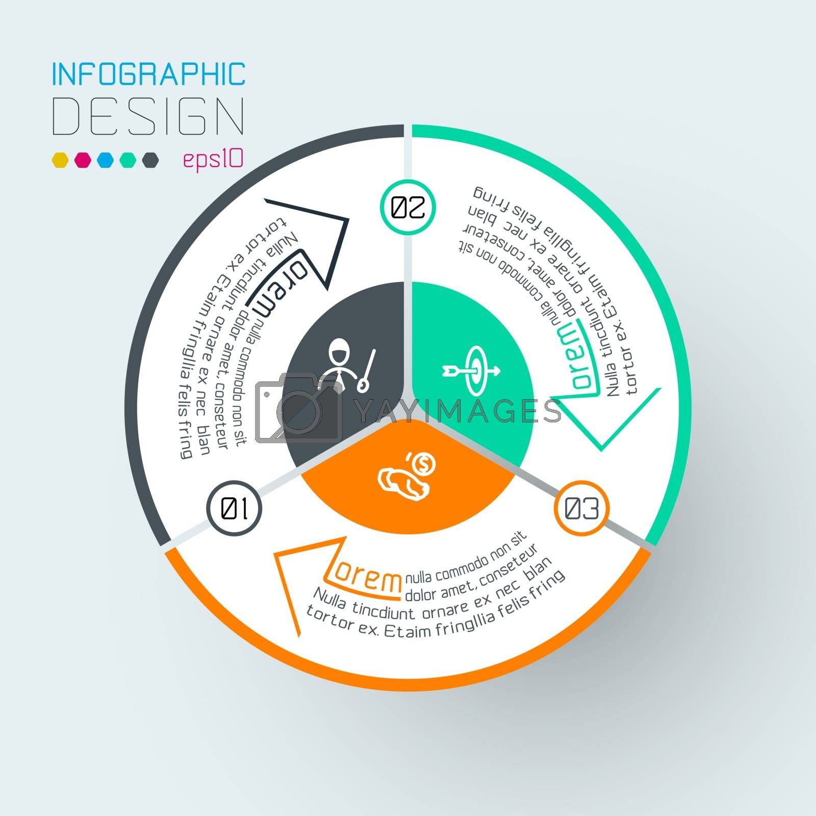 Infographics on vector graphic art. by narinbg