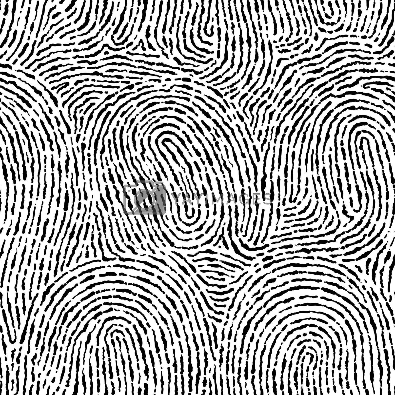 Fingerprint seamless background on square shape. by narinbg