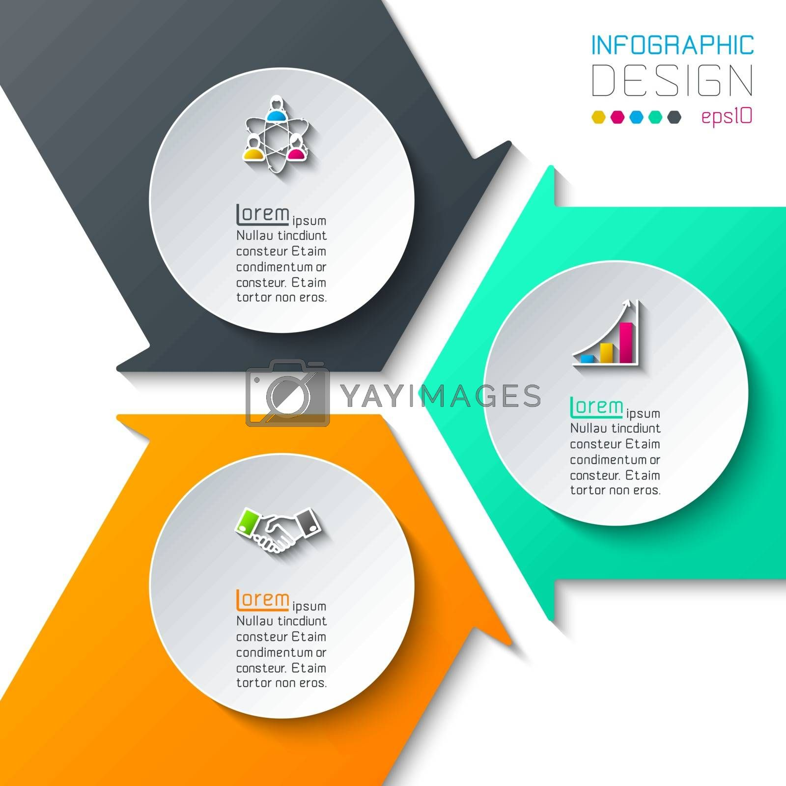 Abstract infographics on vector graphic art. by narinbg
