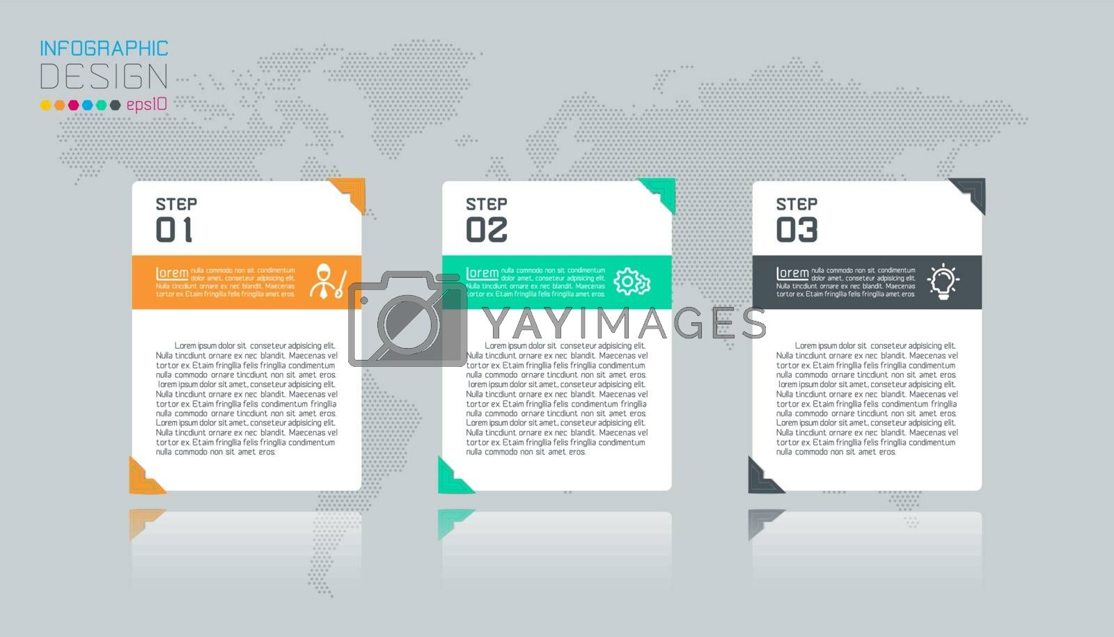 Business infographic with 4 labels. by narinbg