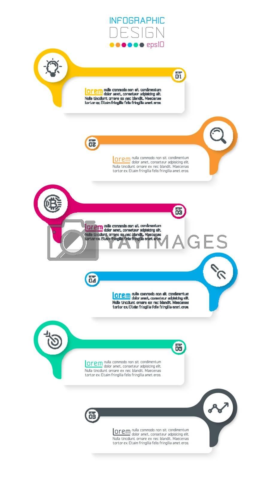 Six horizontal infographics bar. by narinbg